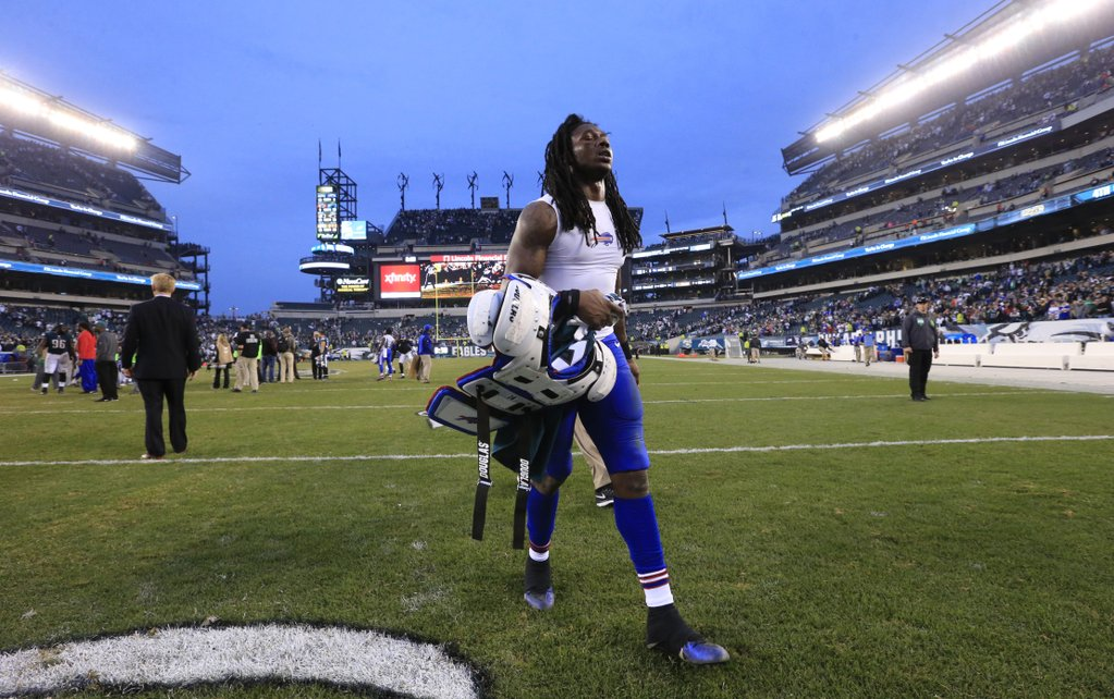 Sammy Watkins walks off Lincoln Financial Field following the Bills' loss to the Eagles. (Harry Scull Jr./Buffalo News)