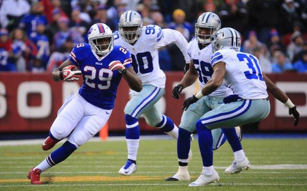 Karlos Williams runs against the Cowboys. (Harry Scull Jr./Buffalo News)