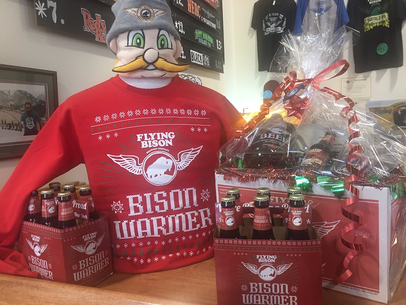 An ugly sweater highlights the Flying Bison holiday gift. (Kevin Wise/Special to The News)