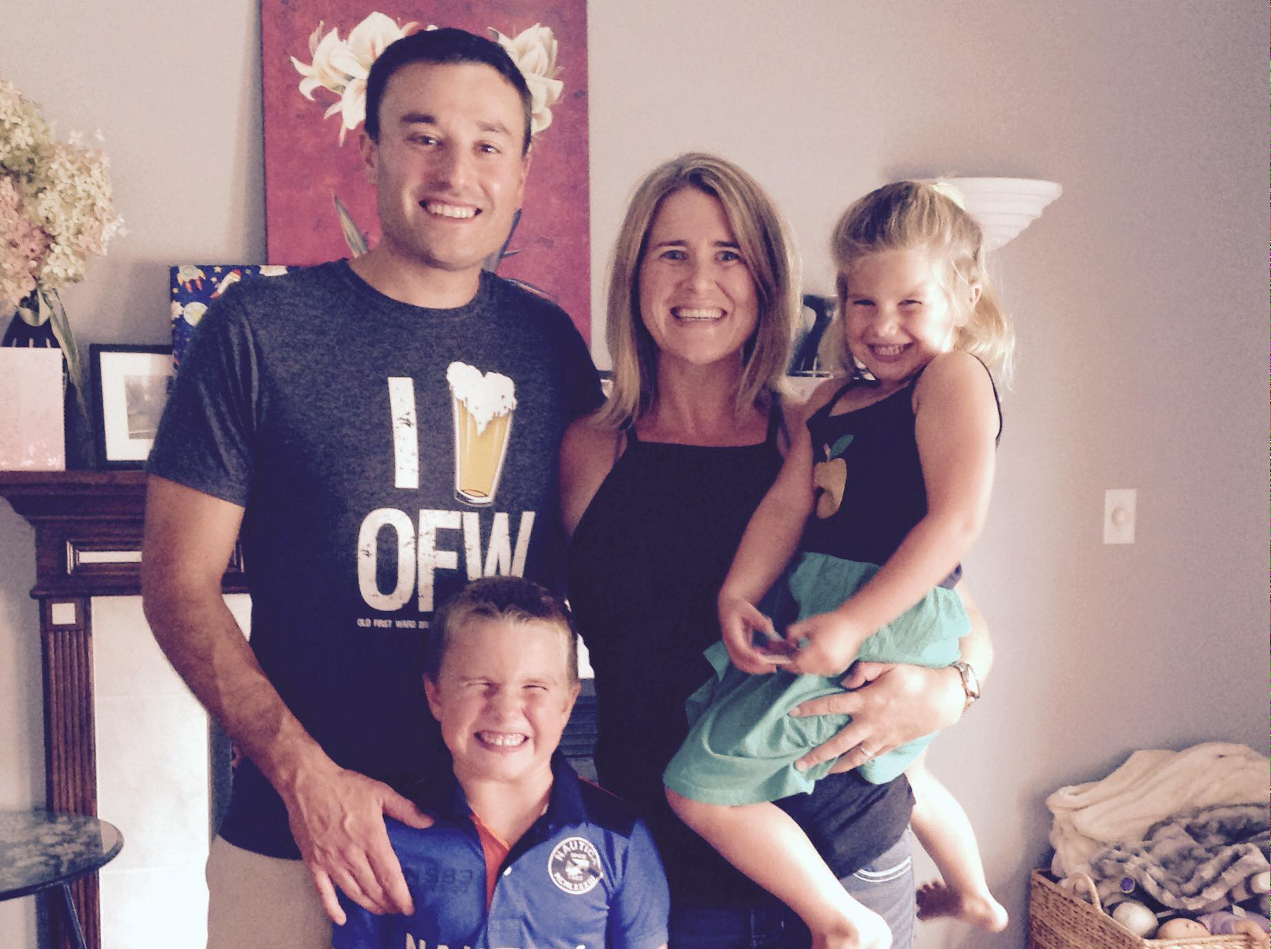 The Hassett family in their Hamburg home. (Tracy Fennell-Hassett/Special to the News)