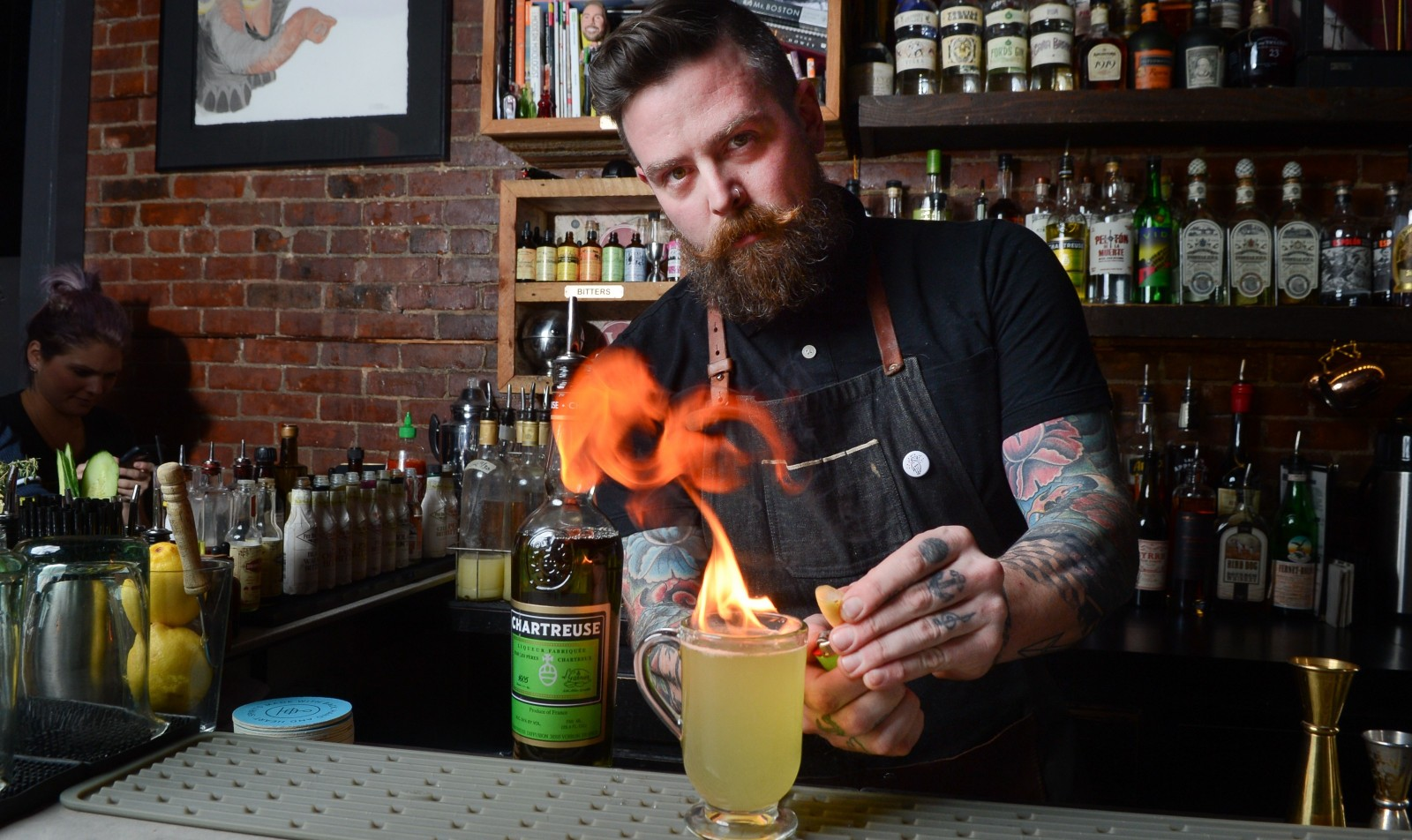 Vera Pizzeria manager Jason Wood is another creative mixologist. (Nancy J. Parisi/Special to The News)