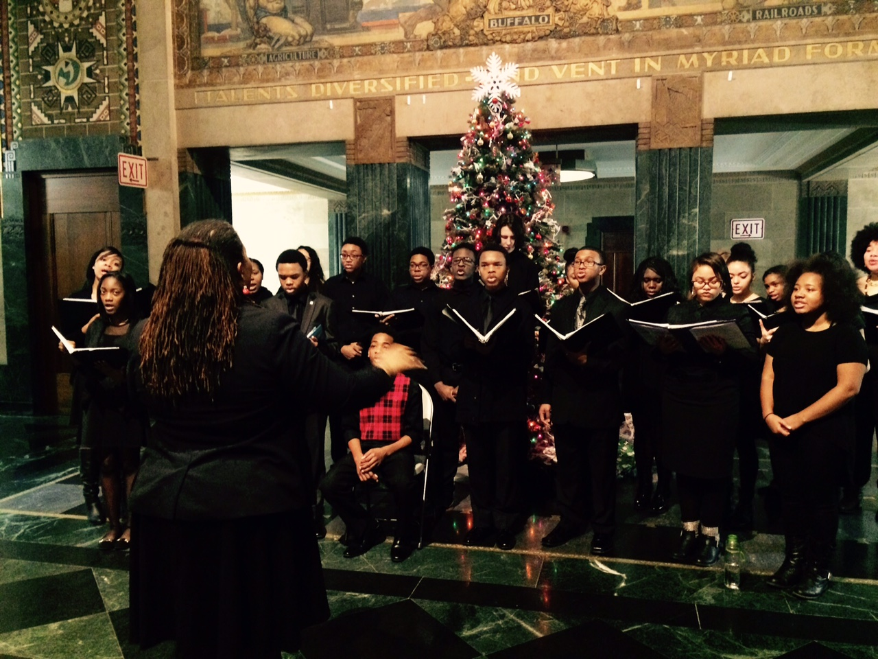 Buffalo Academy of Visual and Performing Arts's Choral Symphony performed at City Hall Thursday