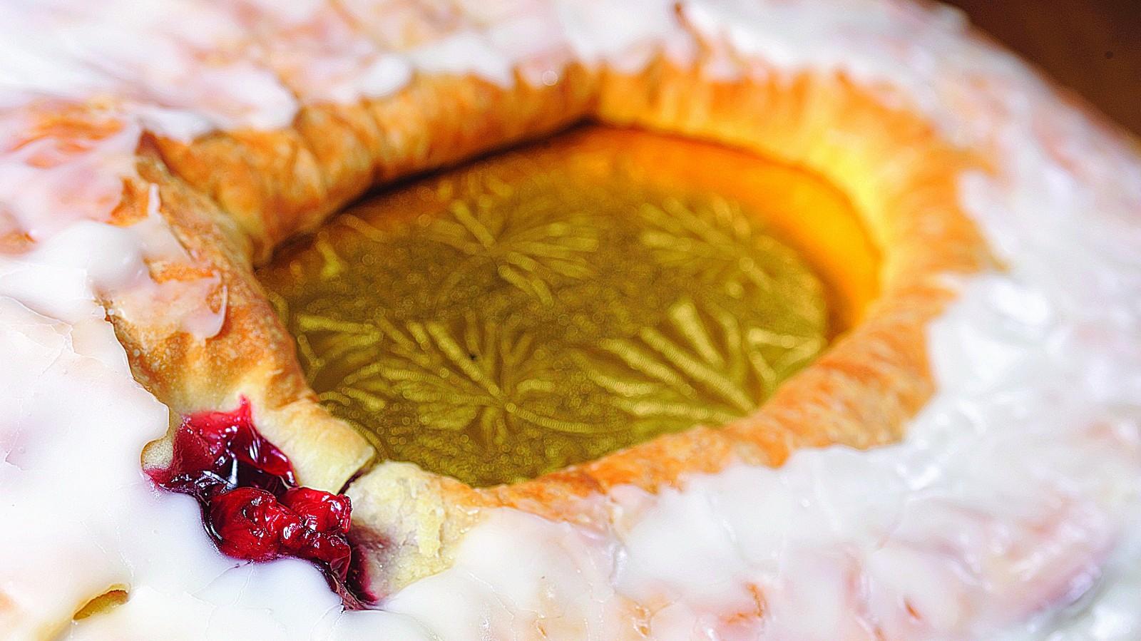 A cherry filled Kringle from Ohlson's Bakery. (Photo by Michael Majewski)