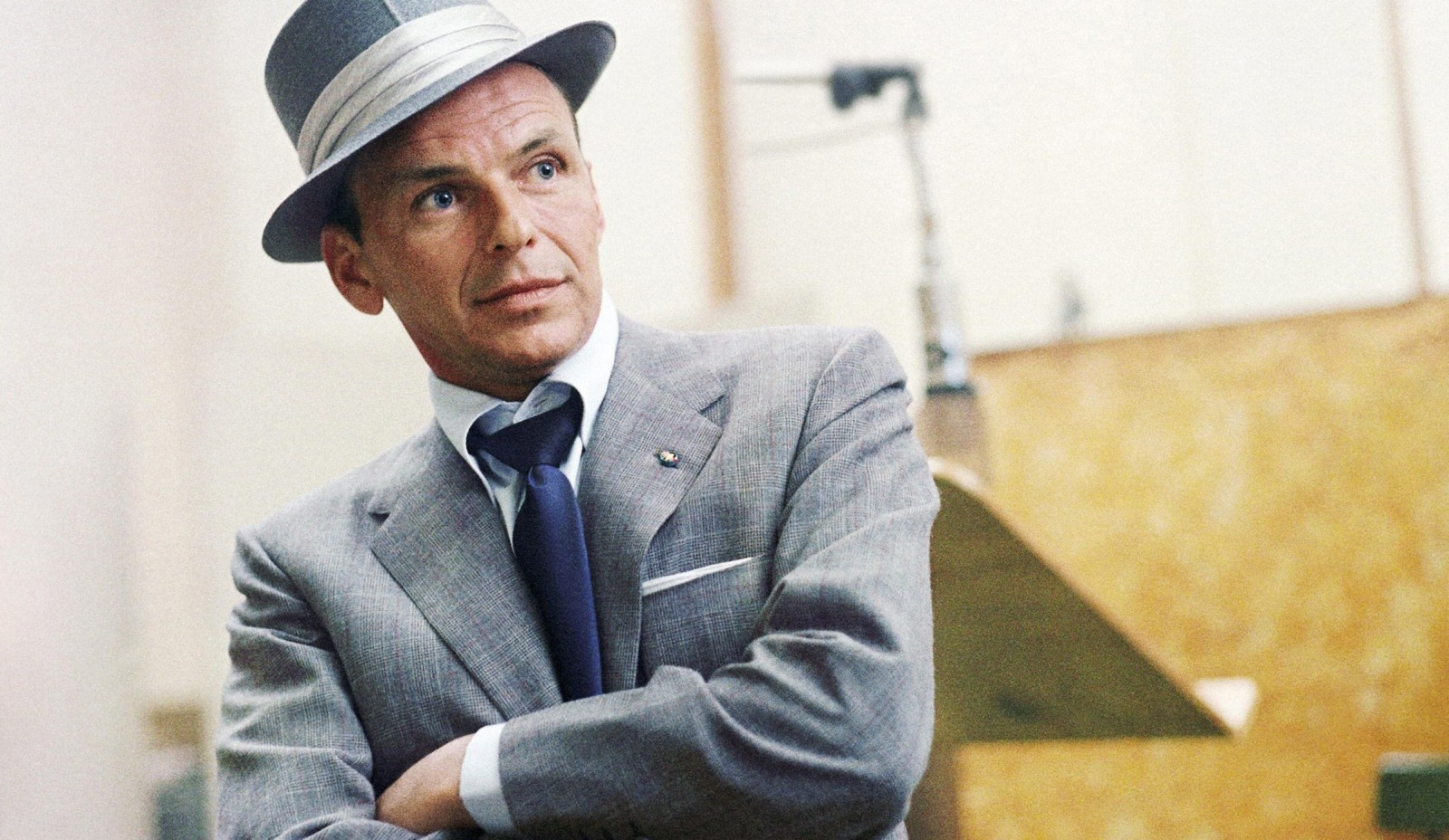Frank Sinatra hangs out in Capitol Records in Los Angeles, Calif., in 1954. (HBO)