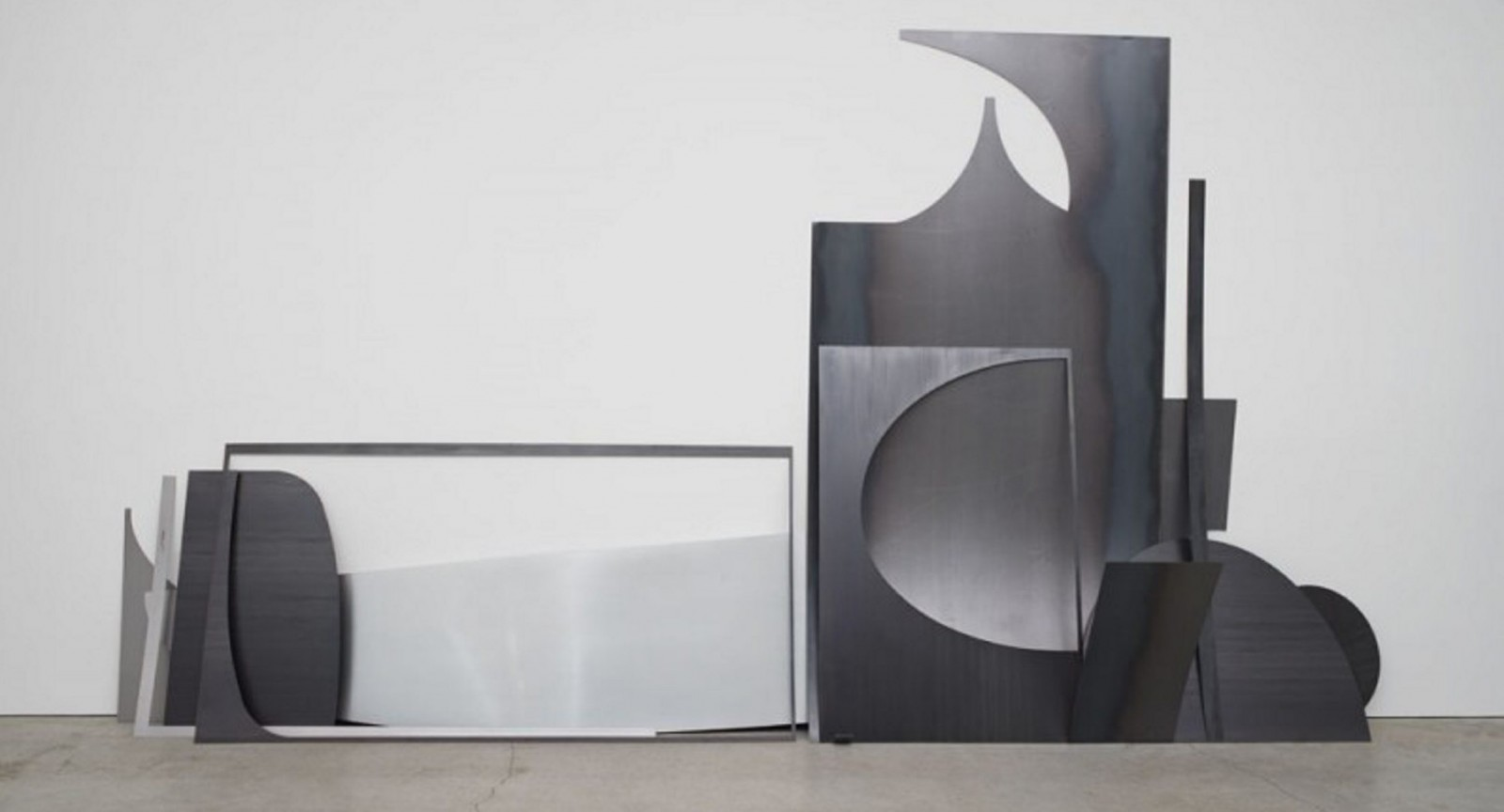 'Drop (no. 14),' a sculptural installation by Erin Shirreff, is part of the artist's solo exhibition in the Albright-Knox Art Gallery.