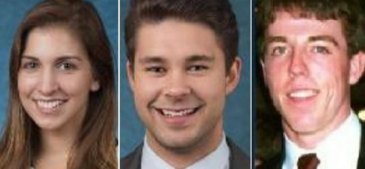 Bodies found were those of, from left, Kelsey Annese, 21, and Matthew Hutchinson, 24, of SUNY Geneseo; ex-student Colin Kingston.