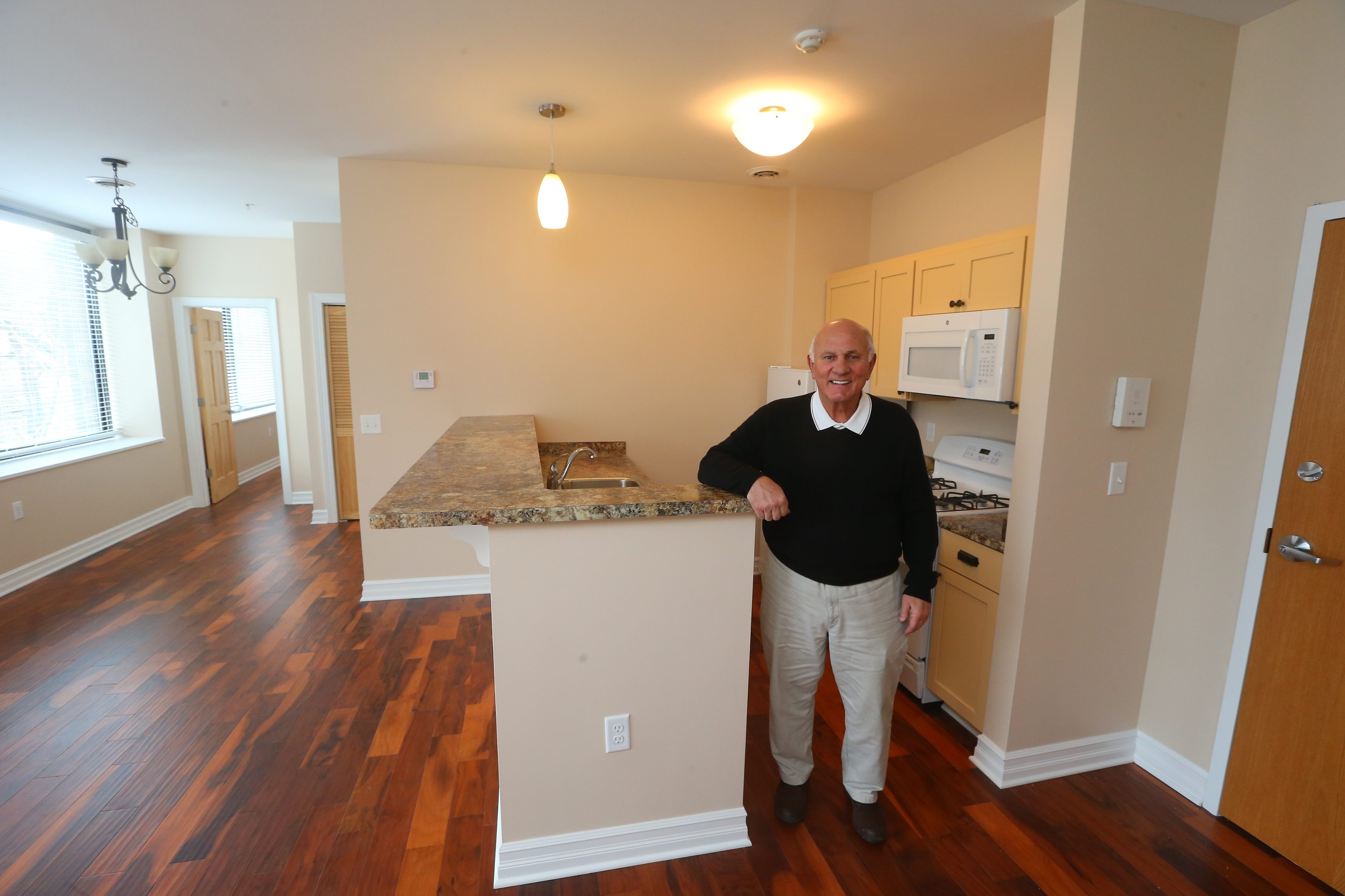 Don Gilbert has converted the former Local 210 Laborers union hall on Franklin Street in Buffalo into luxury apartments.