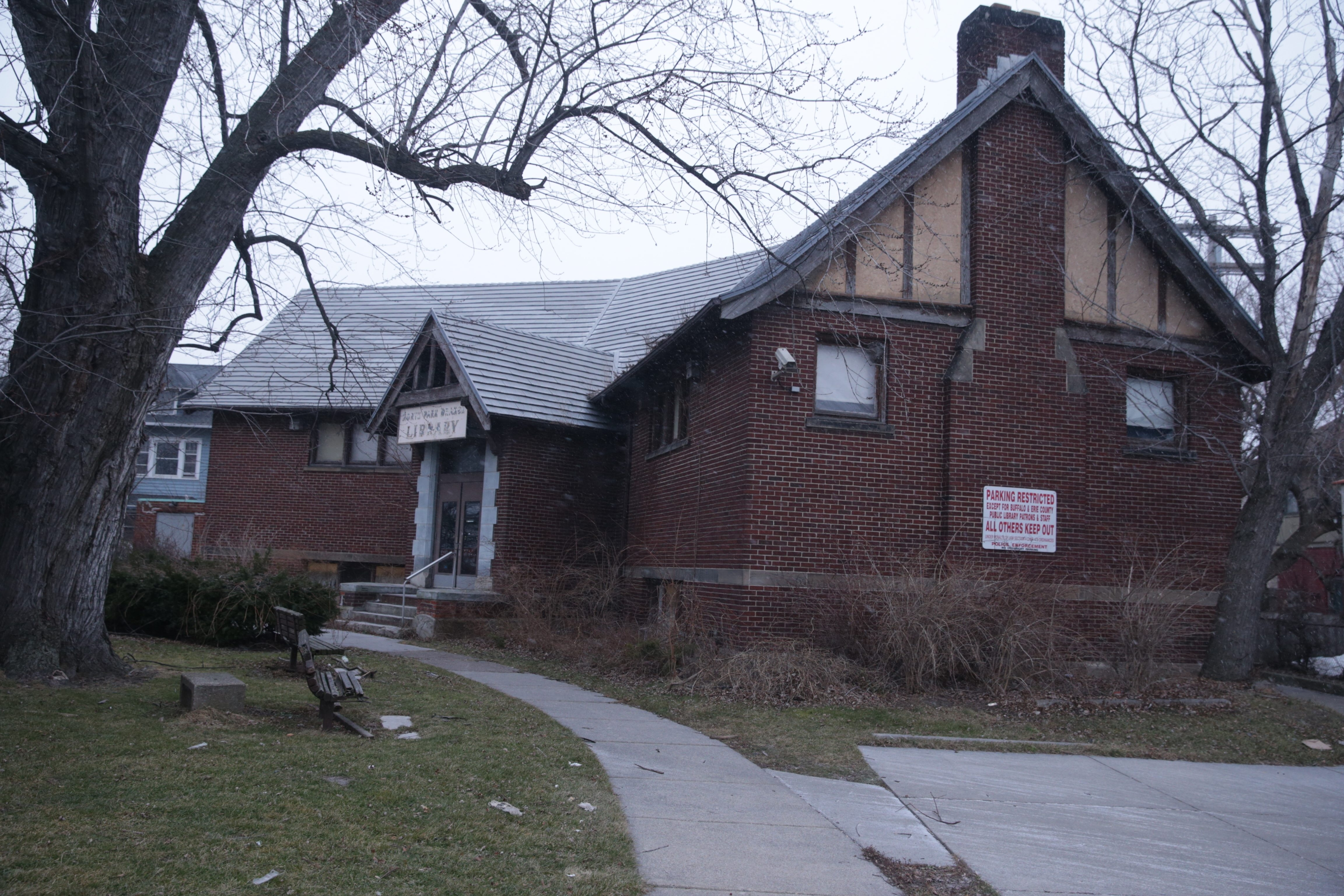 Landmark status was granted by a unanimous vote to the Y-shaped North Park Library on the corner of Delaware and Hertel avenues.