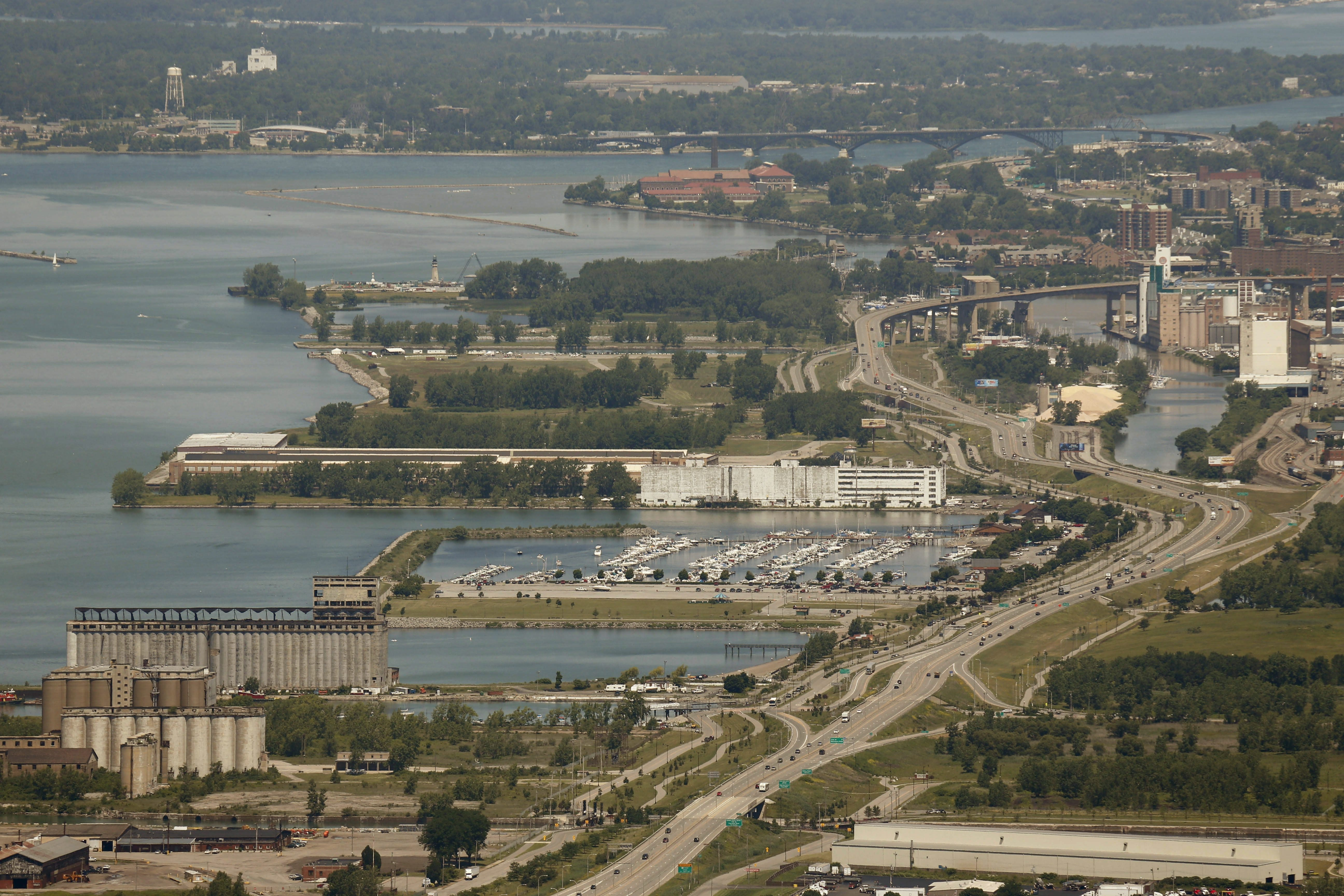 """""""Our goal is to make it a watercentric development that isn't industrial, but is consistent with the goal of an active and improved Buffalo waterfront,"""" Sam Hoyt, local president of Empire State Development, says of Outer Harbor property that NFTA will transfer to agency."""