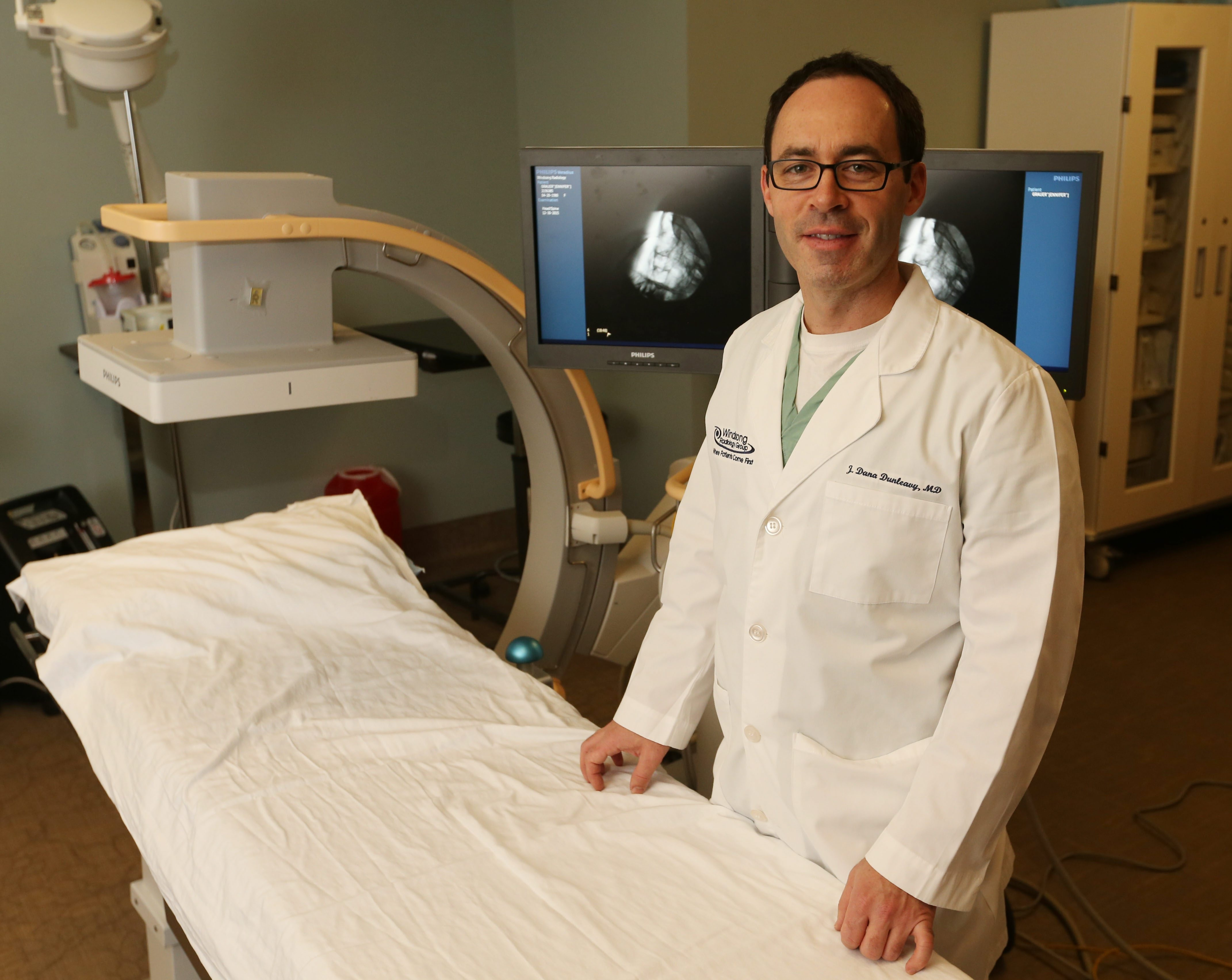 """""""You can put a catheter directly into a tumor as opposed to IV chemotherapy that treats the whole body, and by directing the medicine to the tumor you have less side effects."""" – Dr. J. Dana Dunleavy, Windsong Interventional Radiology Clinic"""