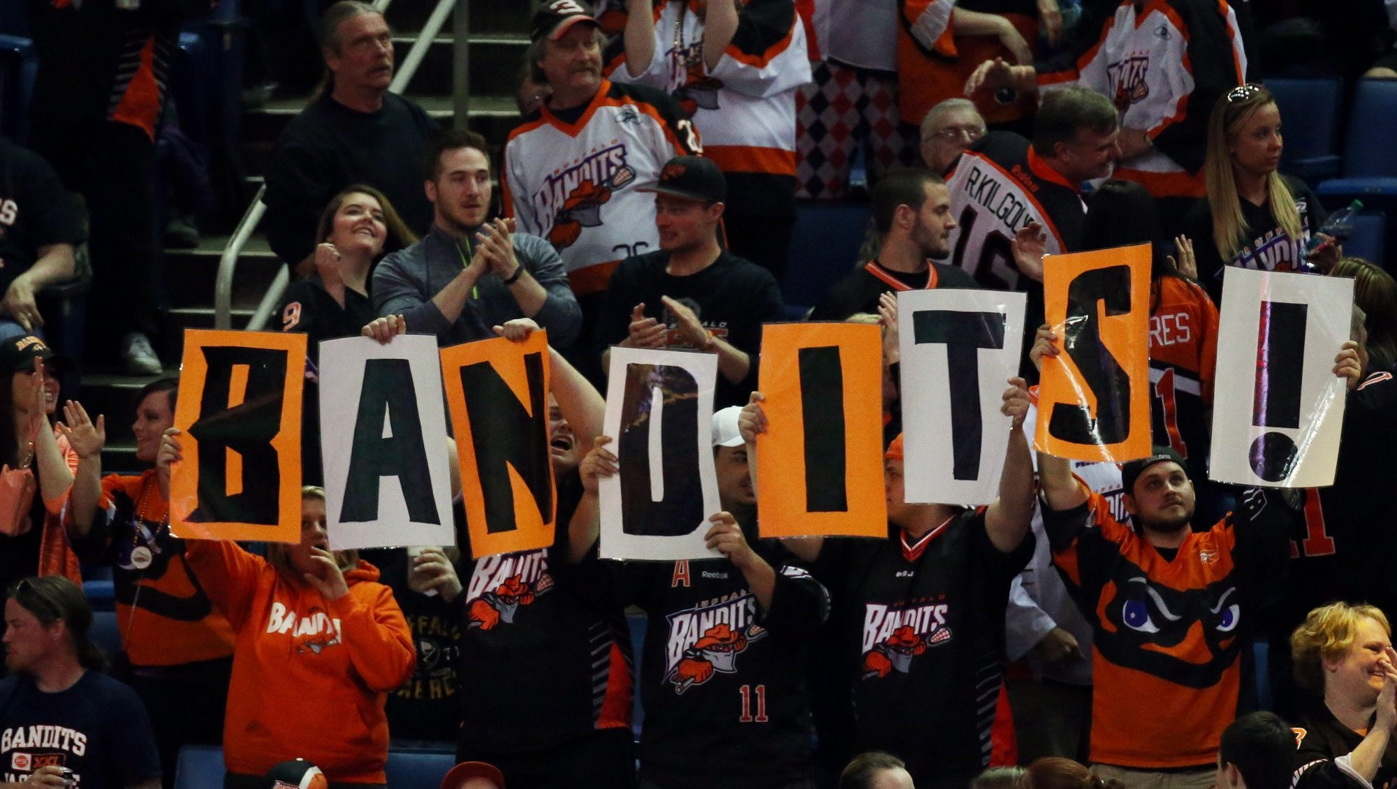 Bandits fans cheer on their team at KeyBank Center. (James P. McCoy/ Buffalo News file photo)