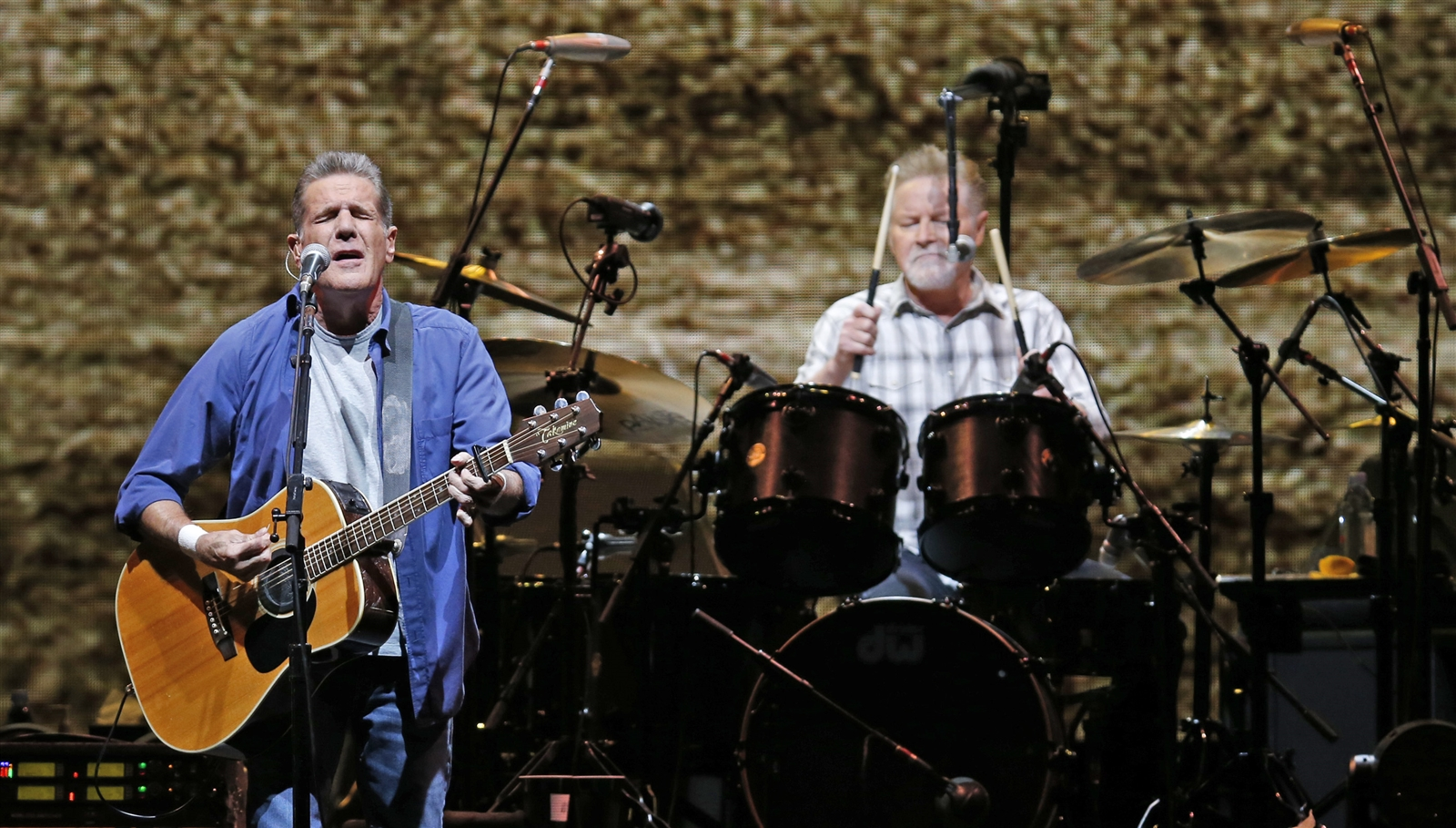 The Eagles, featuring Glenn Frey, left, and Don Henley, played a packed First Niagara Center on July 18, 2015. (Harry Scull Jr. / Buffalo News)