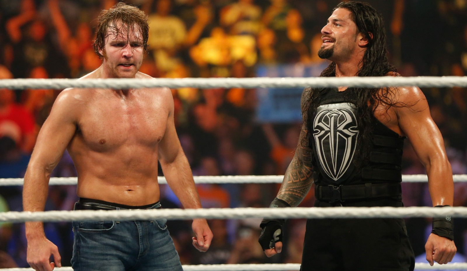 Dean Ambrose, left, and Roman Reigns return to the  FirstNiagara Center for Summerslam.  (Getty Images)