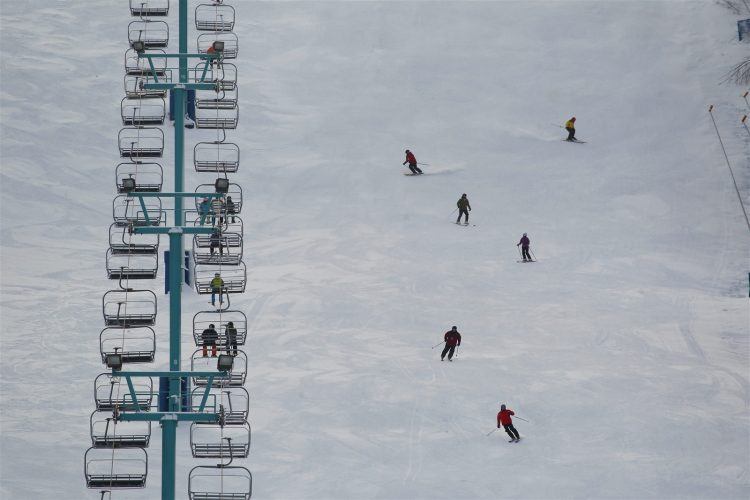Skiers on the slopes at Holiday Valley in Ellicottville. (Mark Mulville/Buffalo News file photo)