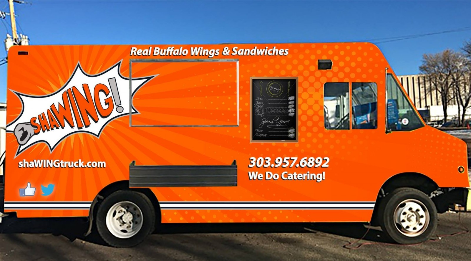 The Sha-WING Food Truck, started by WNY transplants Chris and Jessica Rizzo, will open before April. (via Sha-WING's Facebook page.)