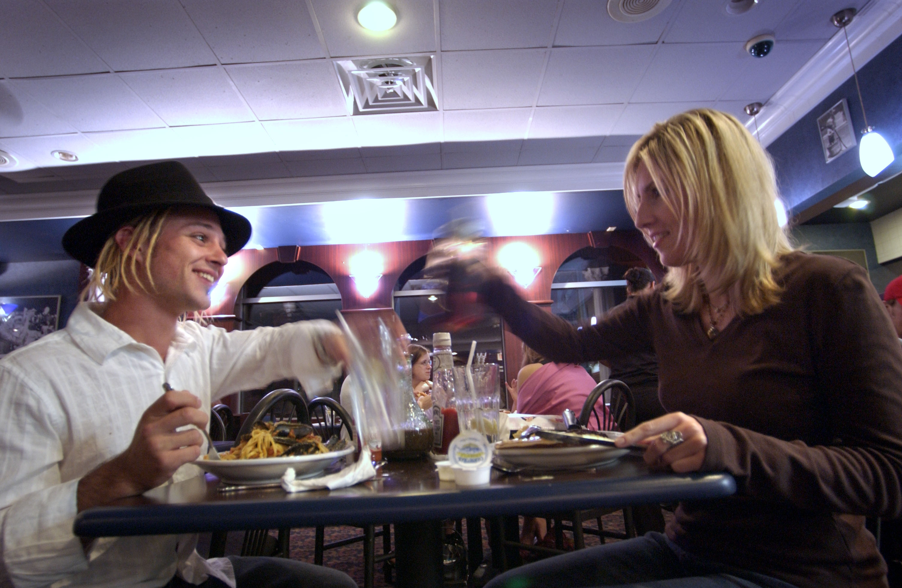 Late-night diners at Pano's on Elmwood Avenue.  Pano's used to be open all night but now is open 7 a.m. to 11 p.m. Sunday through Thursday and until midnight Fridays and Saturdays. (News file photo)