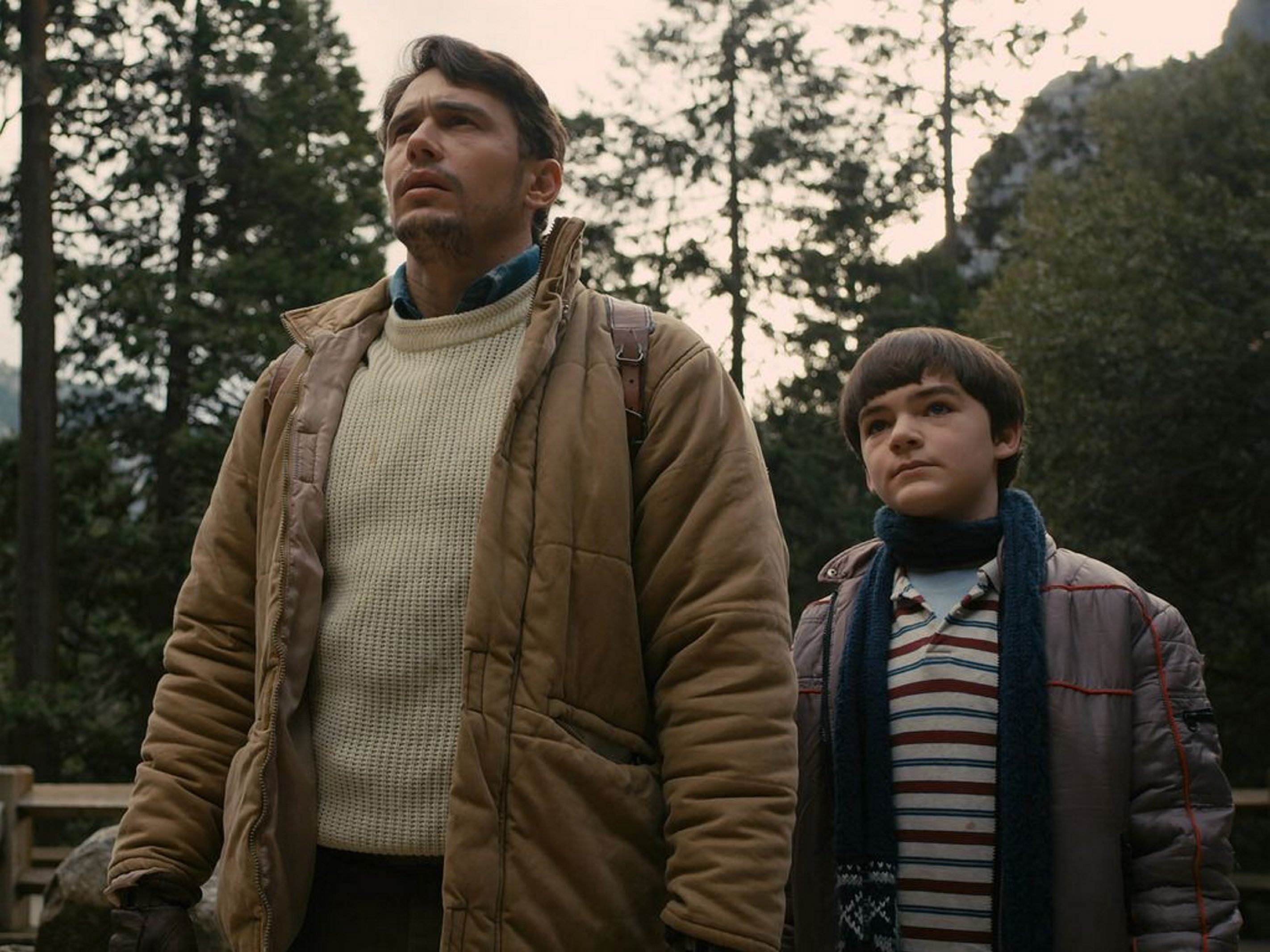 "James Franco, left, and Everett Meckler star in ""Yosemite."""
