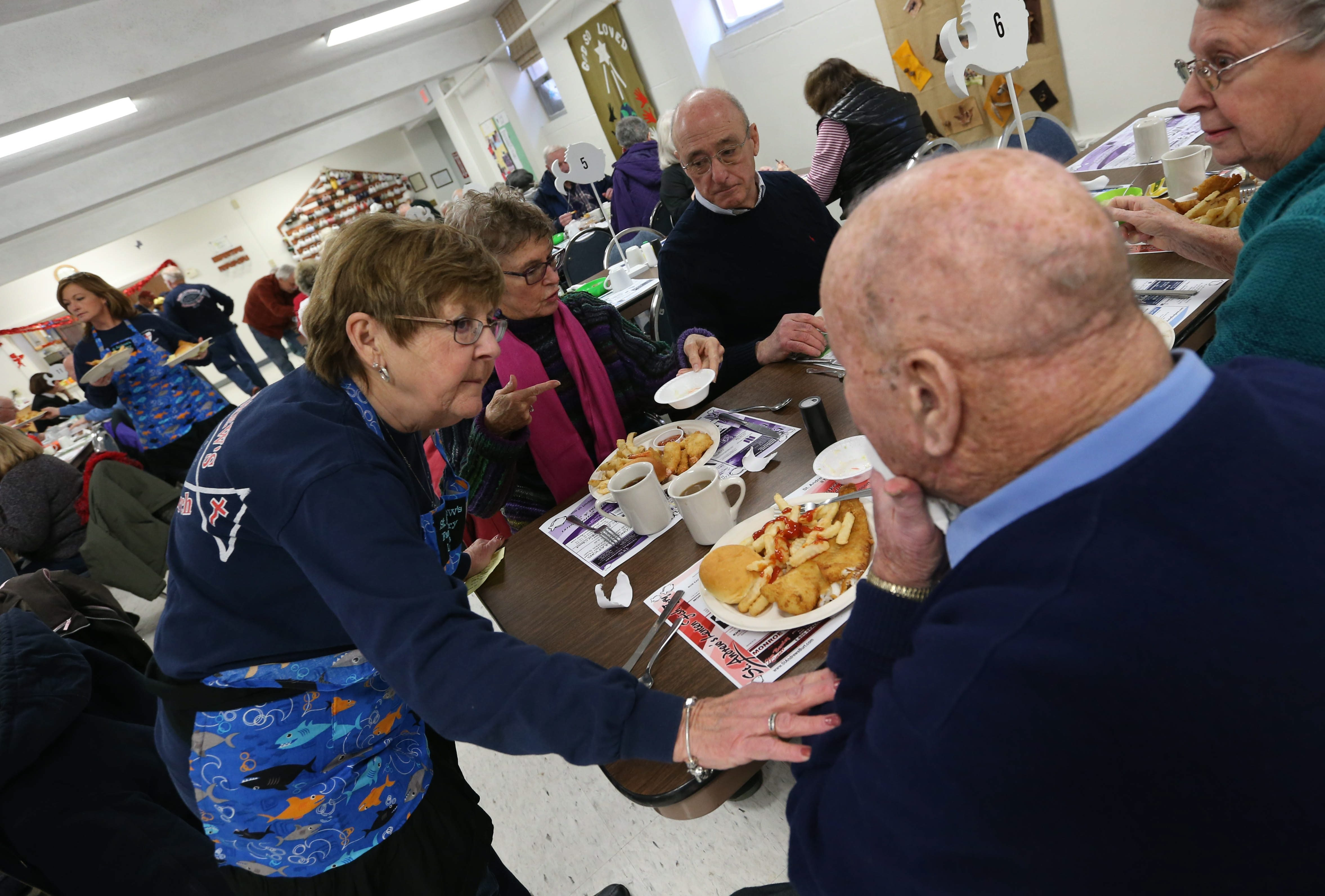"""Fish frys like this one at St. Andrew's Episcopal Church in Burt can be found throughout Western New York during the Lenten season and beyond.  """"You find it all across the country in Catholic  cities."""" – Andrew Golebiowski said of fish frys"""