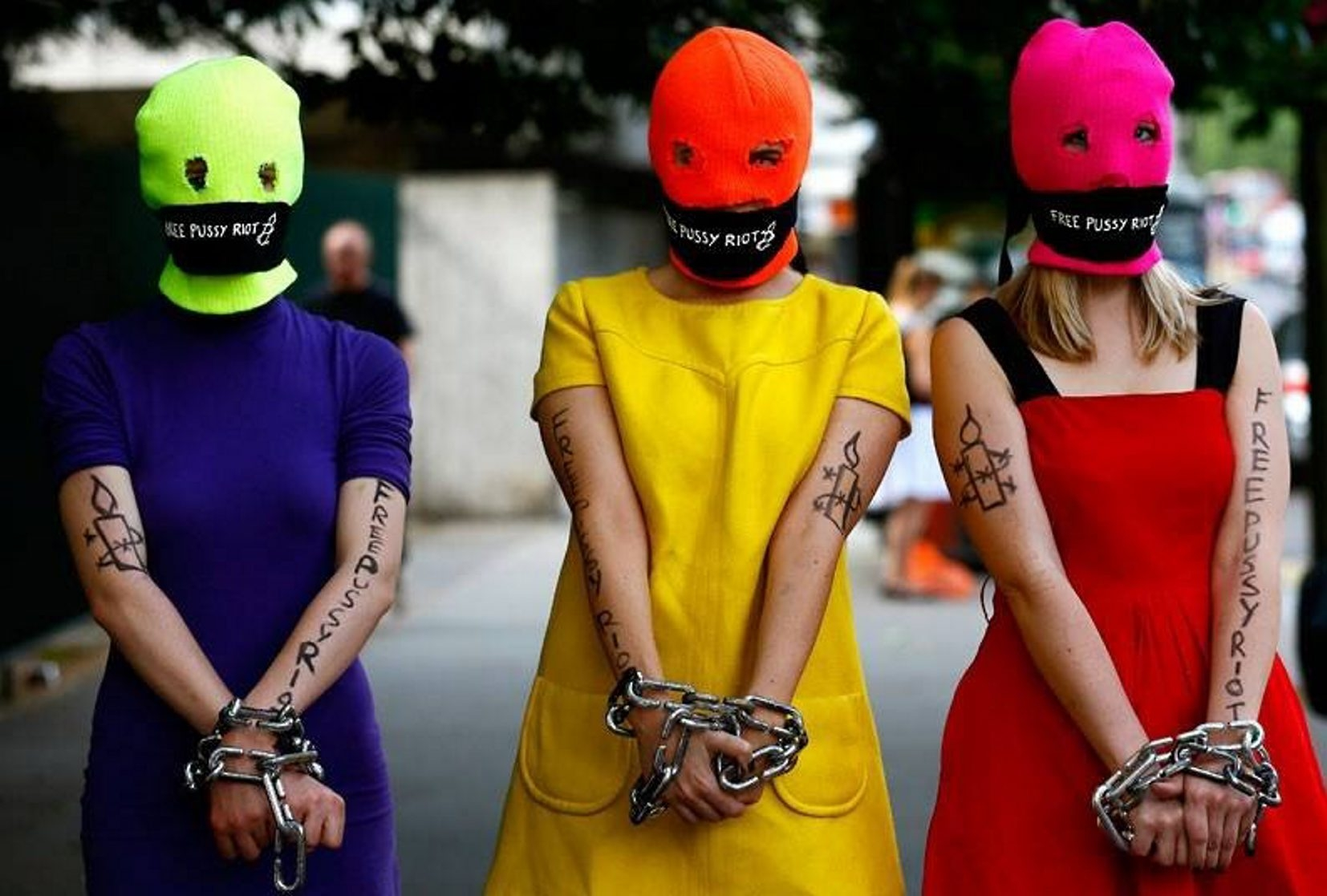 Members of Russian peformance art/punk/protest collective Pussy Riot will be at Asbury Hall @ Babeville.
