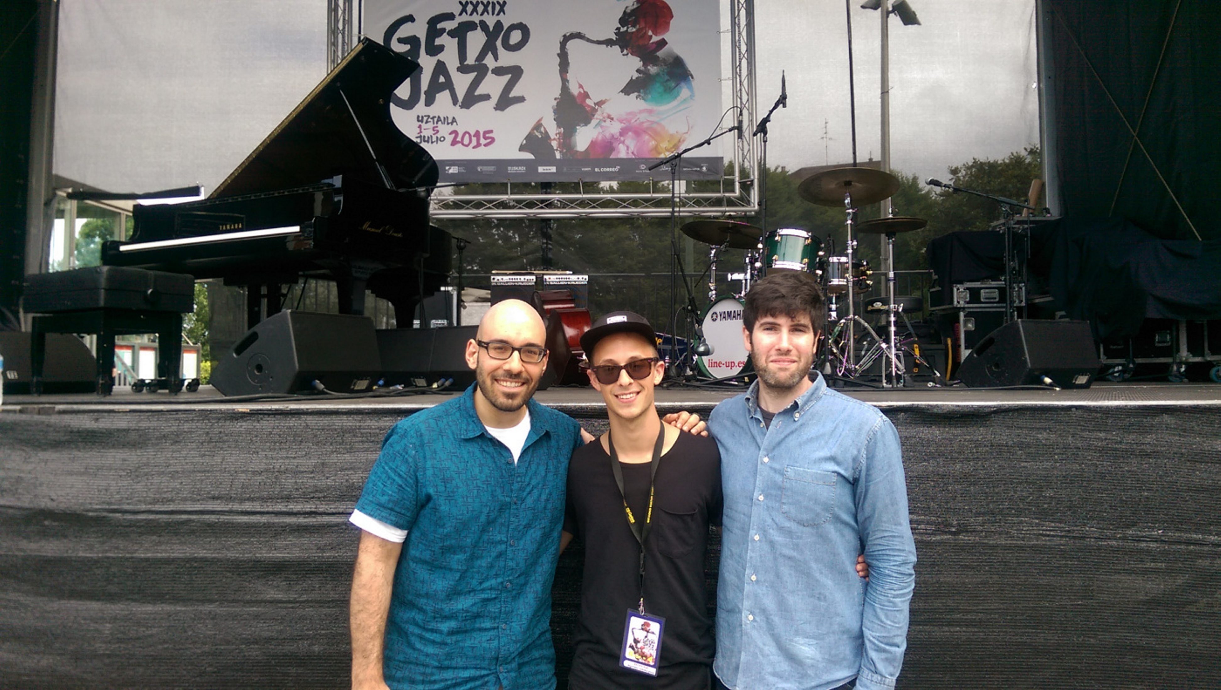 The Angelo DiLoreto Trio features, from left, DiLoreto, Philippe Lemm and Jeff Koch. They are pictured at the Getxo Festival in Spain.