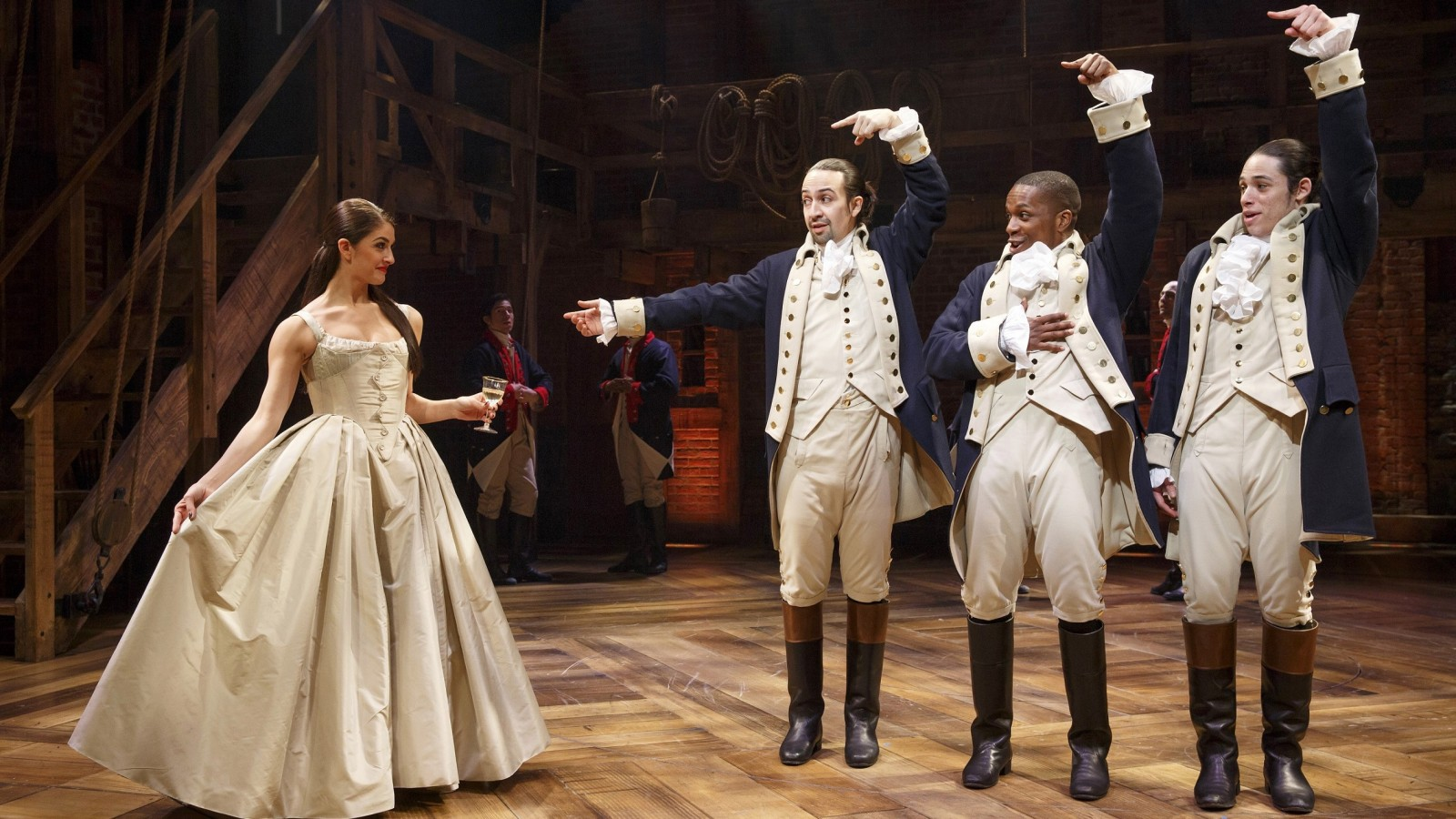 A touring version of 'Hamilton,' shown here with its original Broadway cast, anchors the 2018-19 season at Shea's Performing Arts Center. (Photo by Joan Marcus)