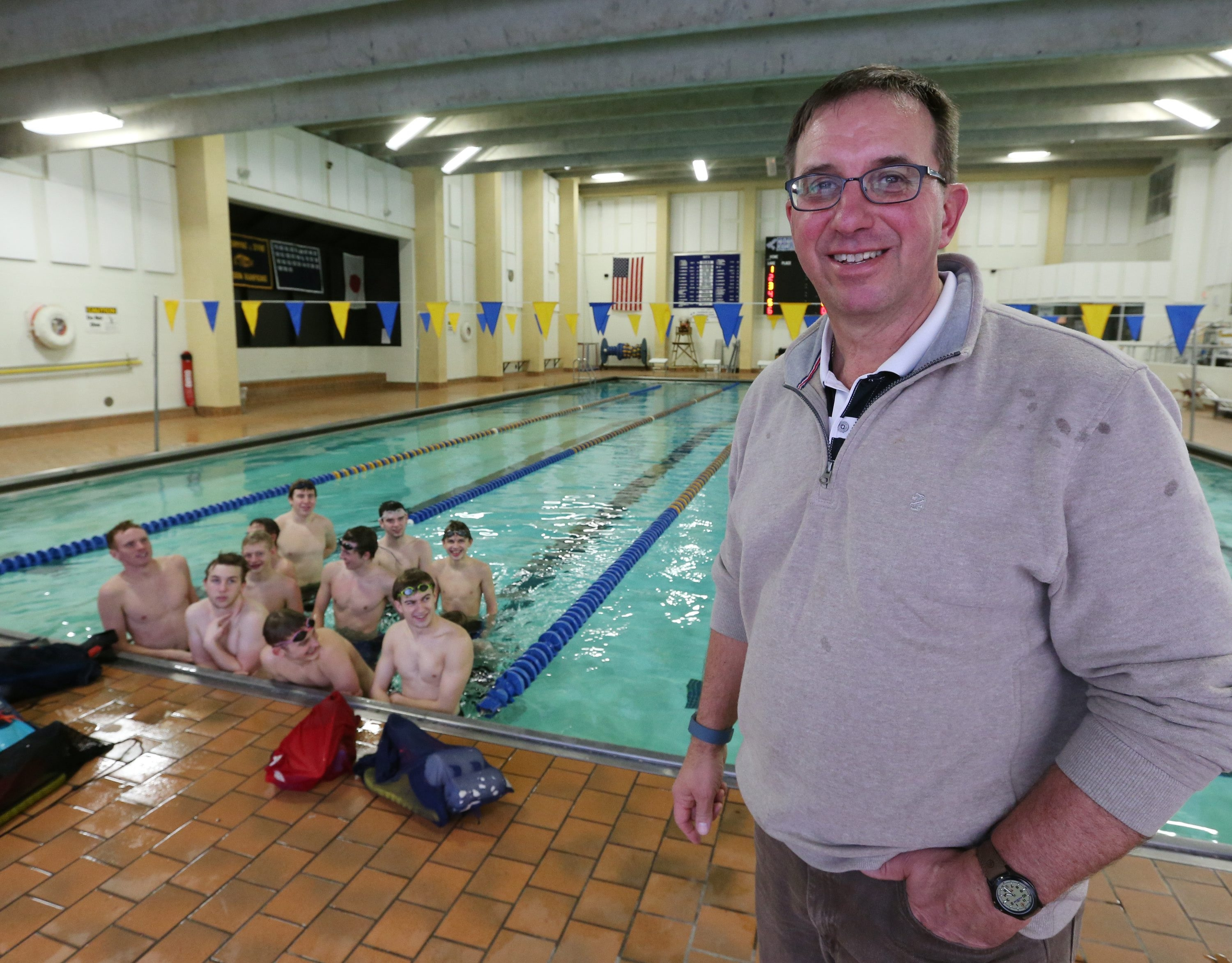 Bruce Johnson means so much to swimming in Frewsburg that it's been suggested the high school pool where he's coached for 39 years be named in his honor.