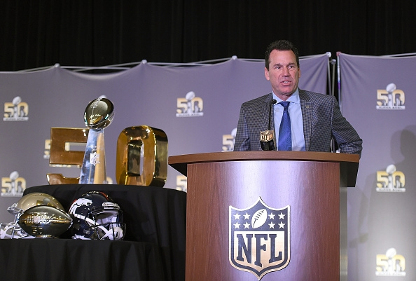 Denver coach Gary Kubiak talked at Monday's Super Bowl 50 MVP trophy presentation in San Francisco of how he relied on veteran leadership to steady the Broncos for the big game. (Getty Images)
