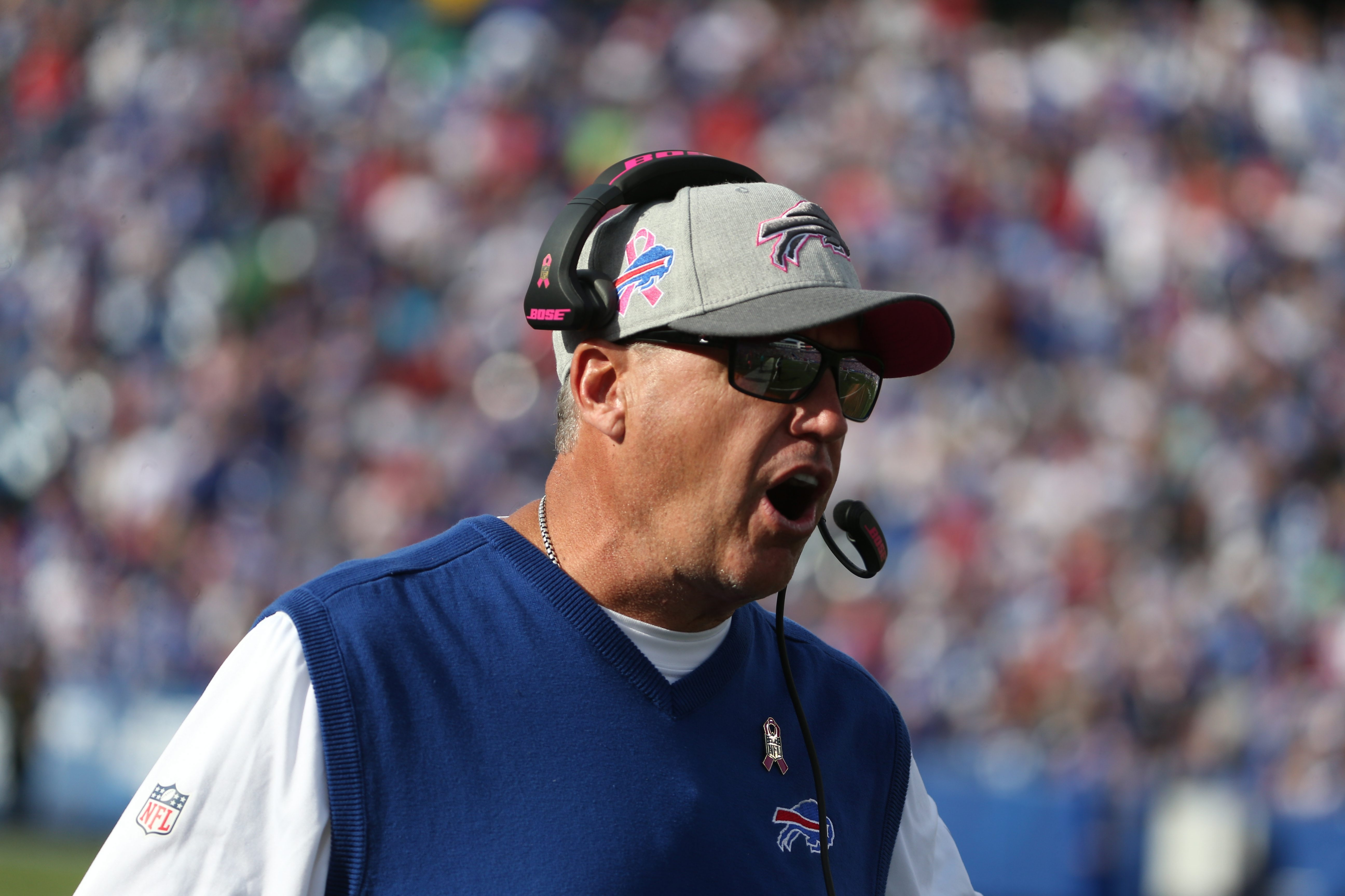 A high-ranking Buffalo Bills official said the team had every intention of keeping defensive coordinator Jim Schwartz after Rex Ryan was hired, but the new head coach had a different plan. (James P. McCoy/ Buffalo News)