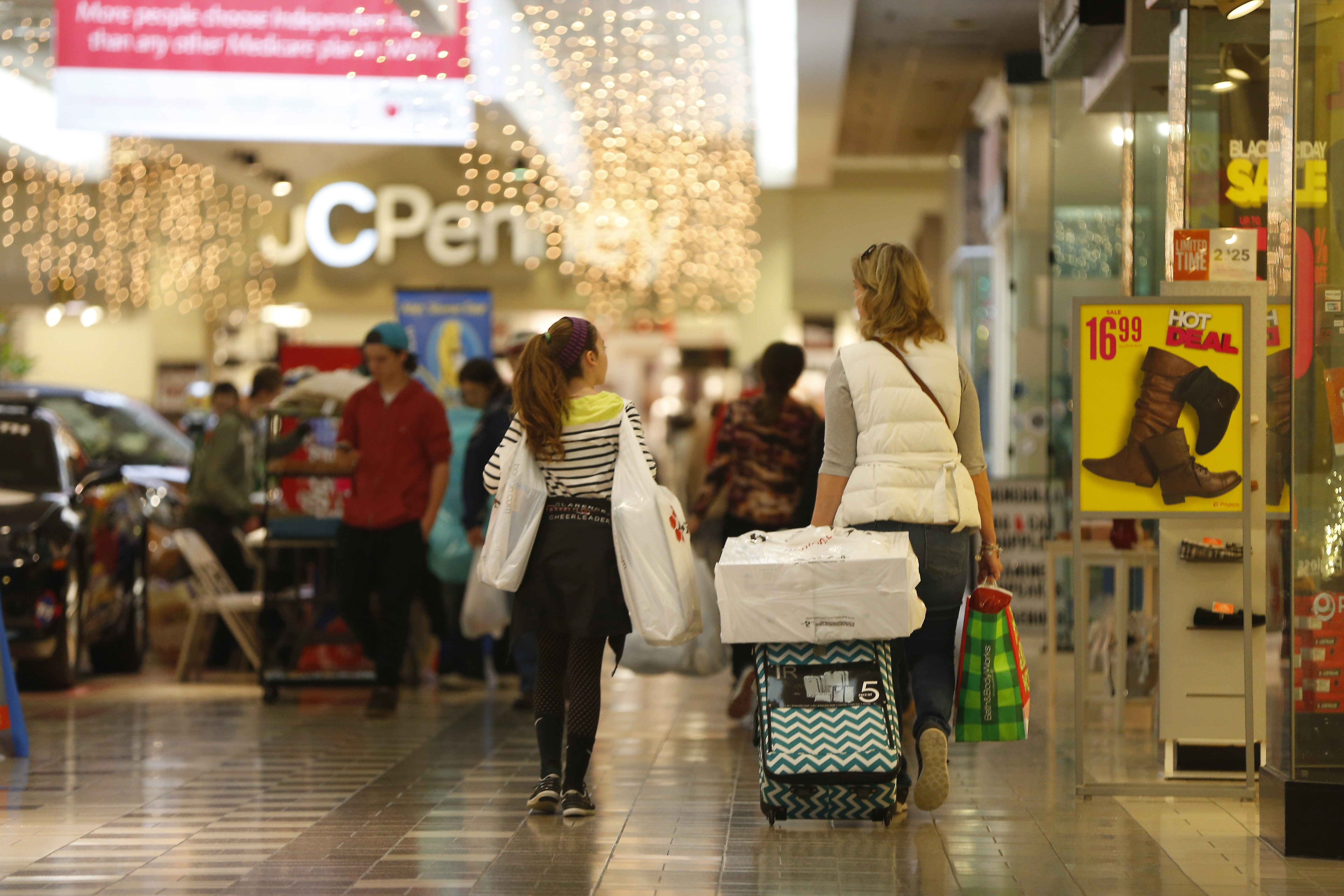 At Eastern Hills Mall, post-holiday transition includes loss of clothier Express and impending closure of anchor Macy's by March.
