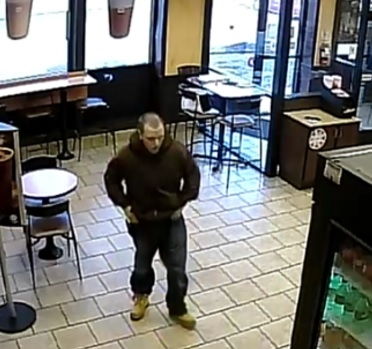 Police said this man robbed a Dunkin' Donuts on Main Street on Monday. (Amherst police)