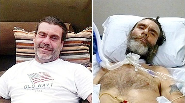 Before and after shooting: Jeffrey J. Edwards, as he looked prior to tragic 2010 event and, paralyzed, leading up to death in 2014.