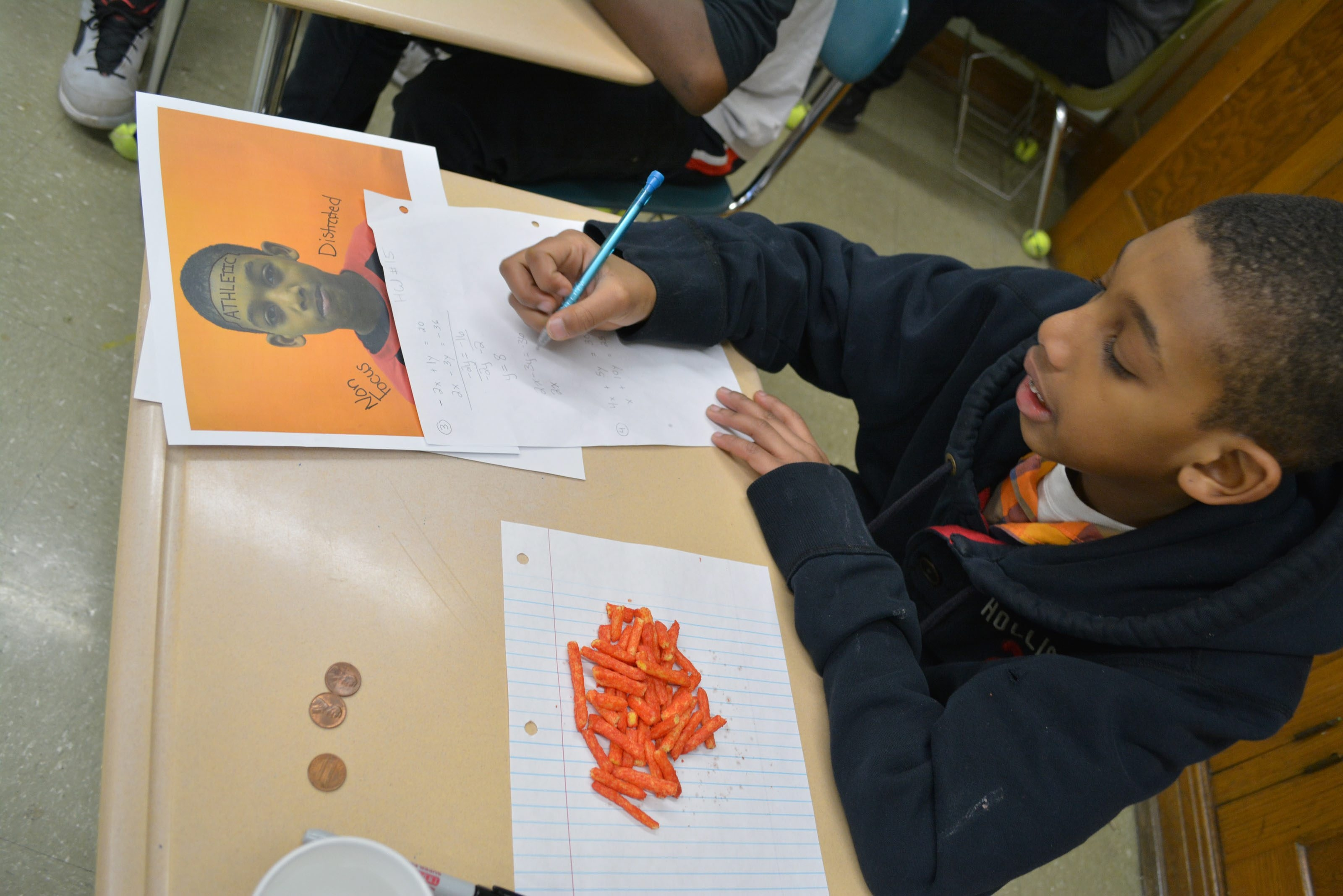 "Xavier Crayton is one of the Gaskill Prep middle schoolers exploring images that reflect the 1999 novel ""Monster."""