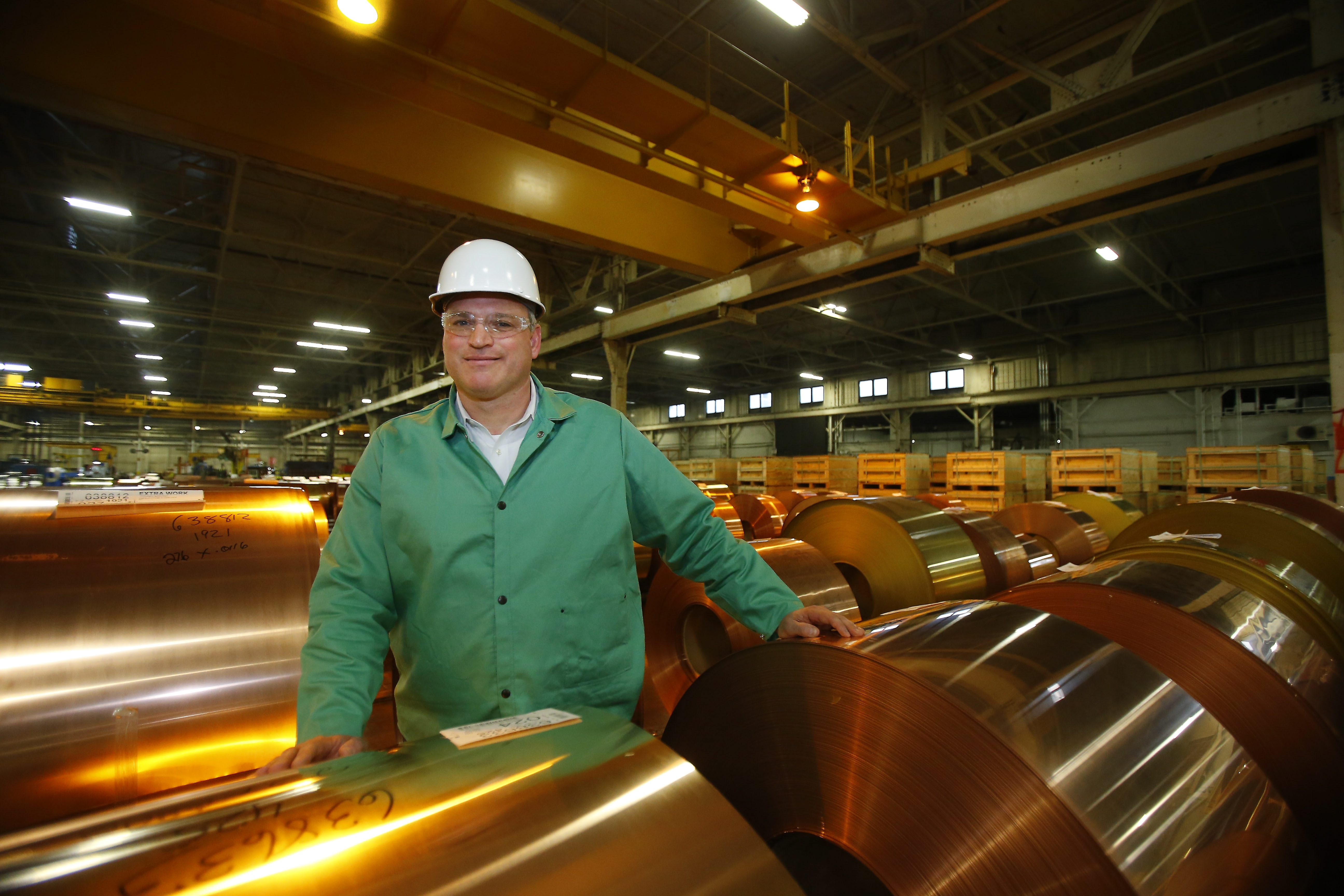 Jeffery D. Nystrom is president of Aurubis Buffalo, one of the German company's eight global production sites and its only plant in the United States.
