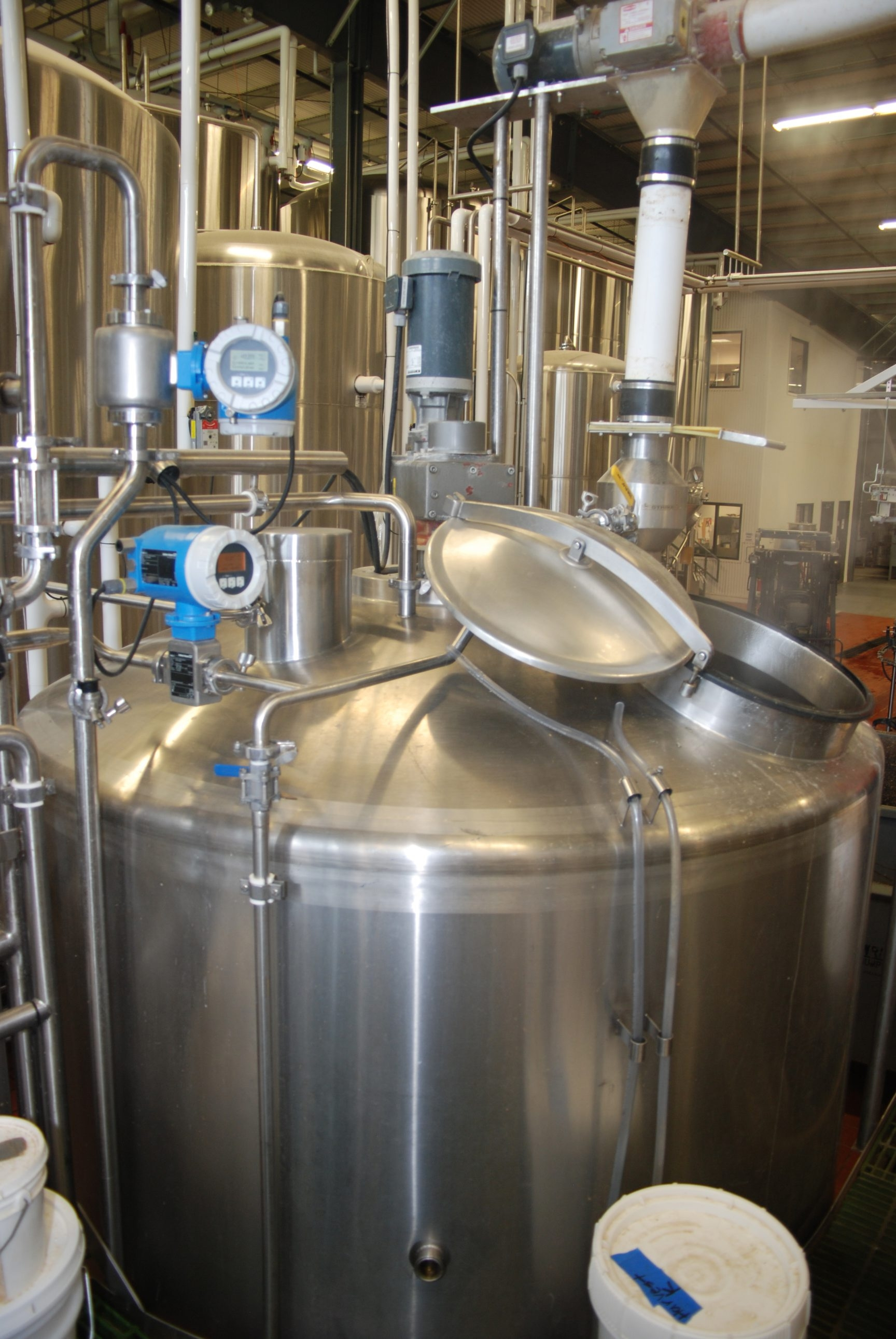 One of two mash tun brewing vessels at Southern Tier Brewing Company in Lakewood. Brewers operate this equipment 24 hours a day, 7 days a week.