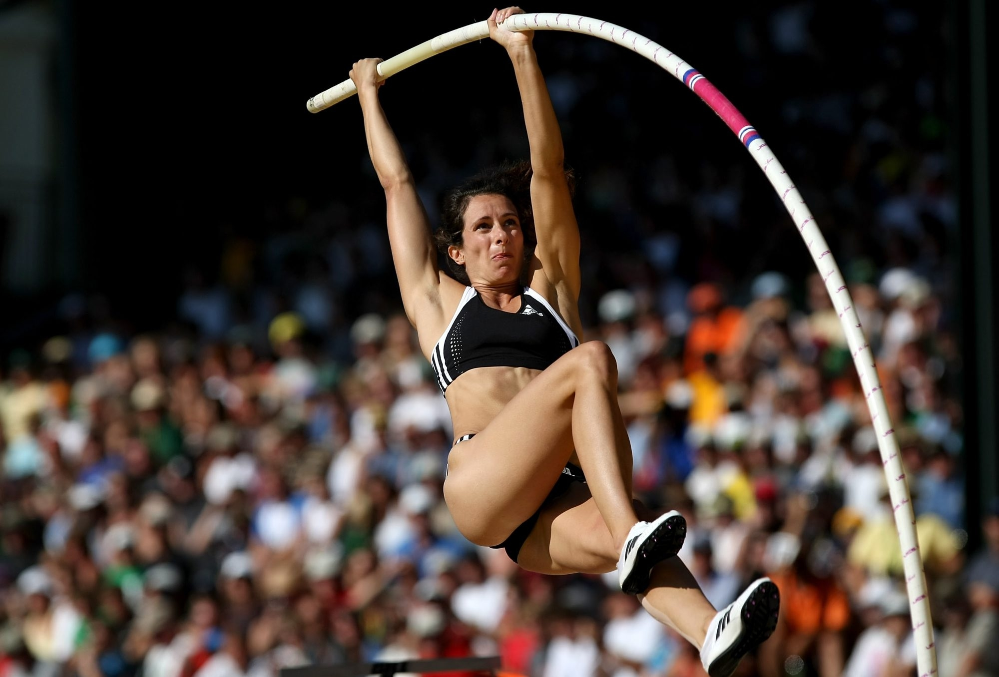 Fredonia native Jenn Suhr has the most national titles of any active U.S. track and field athlete.