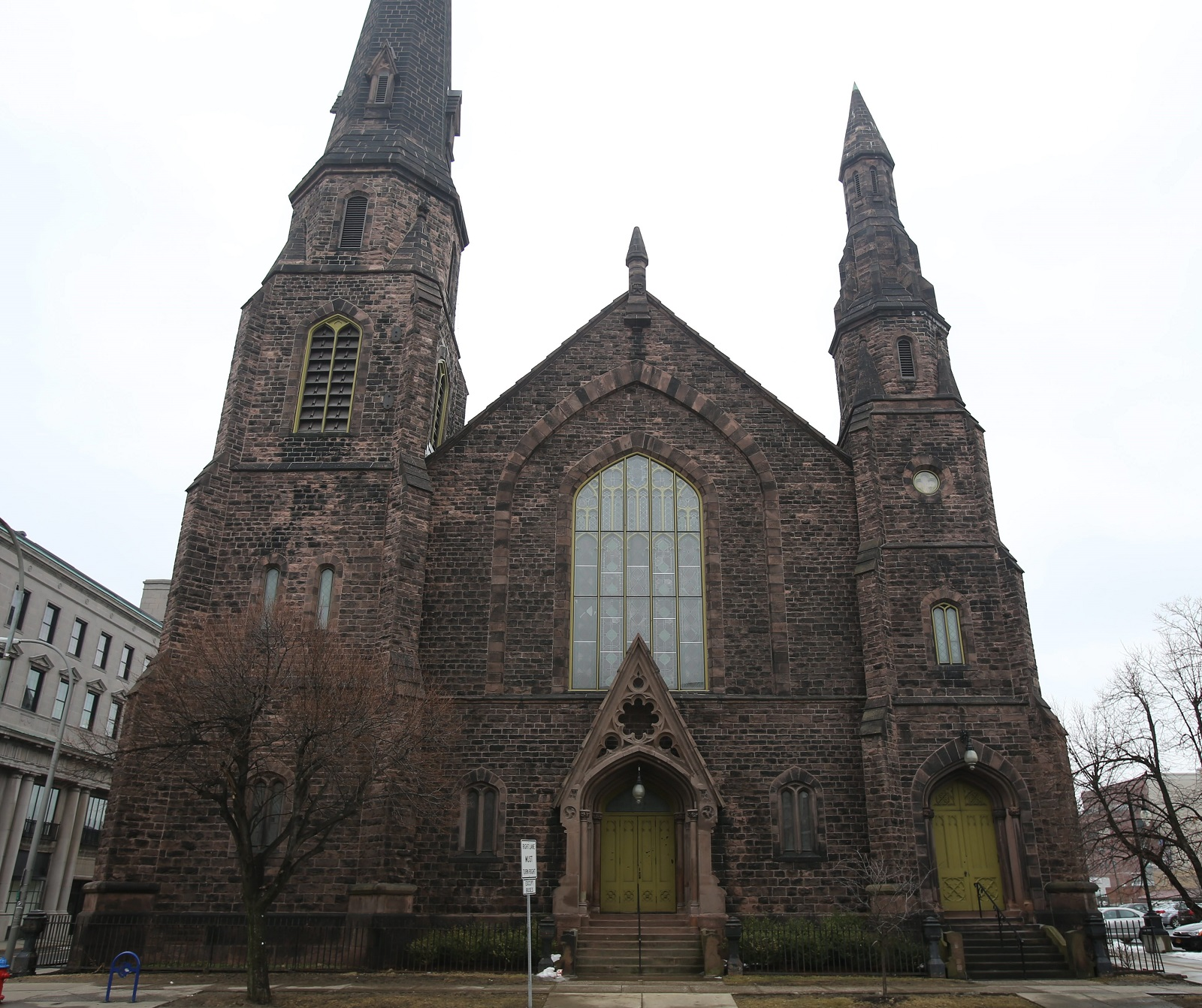 A former church, Asbury Hall -- home of Babeville -- stands tall in downtown Buffalo. (Buffalo News file photo)