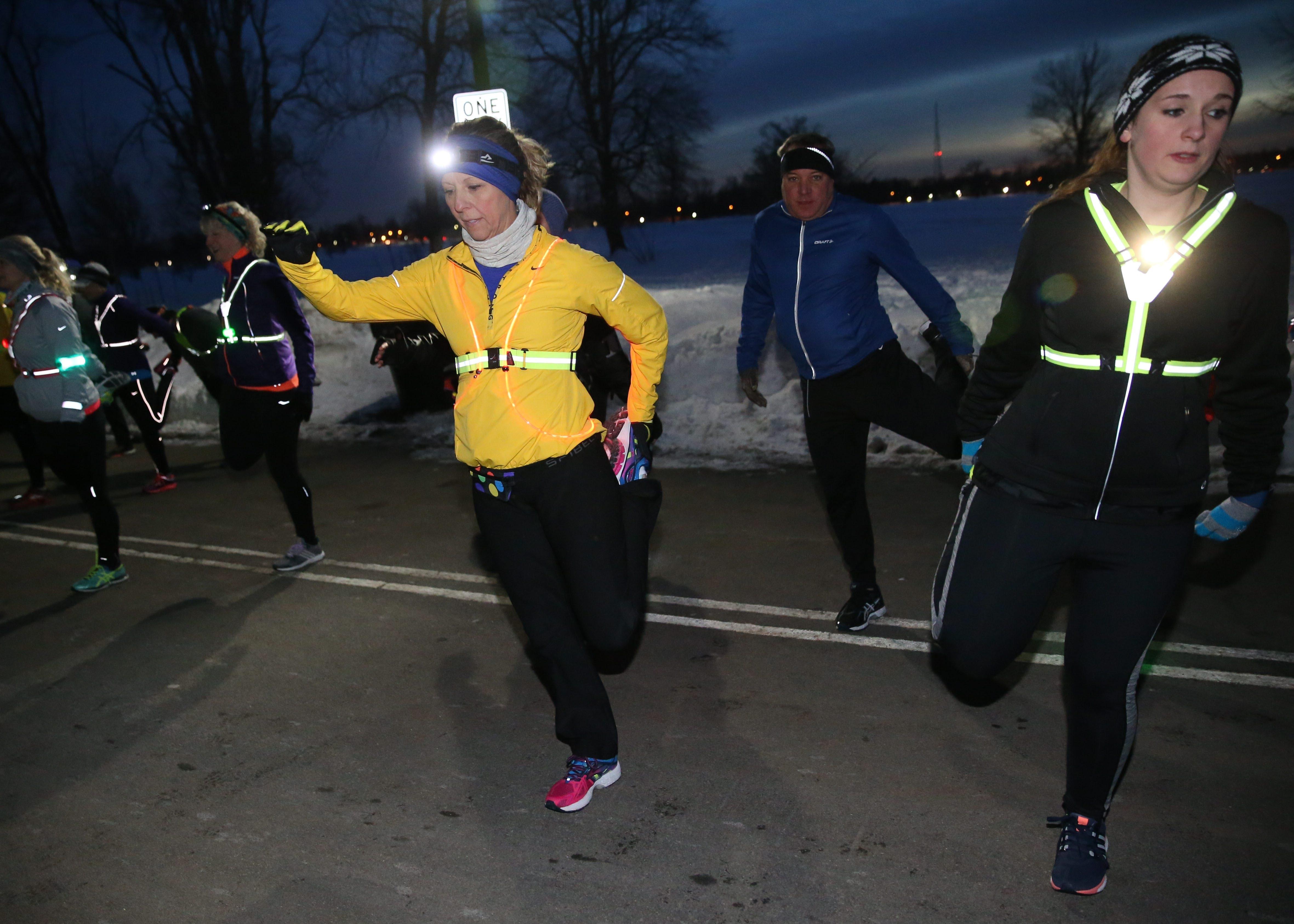 Trina Schiavitti, one of the 112 members of the Fleet Feet Sports Buffalo training program, says it's good to have a goal.