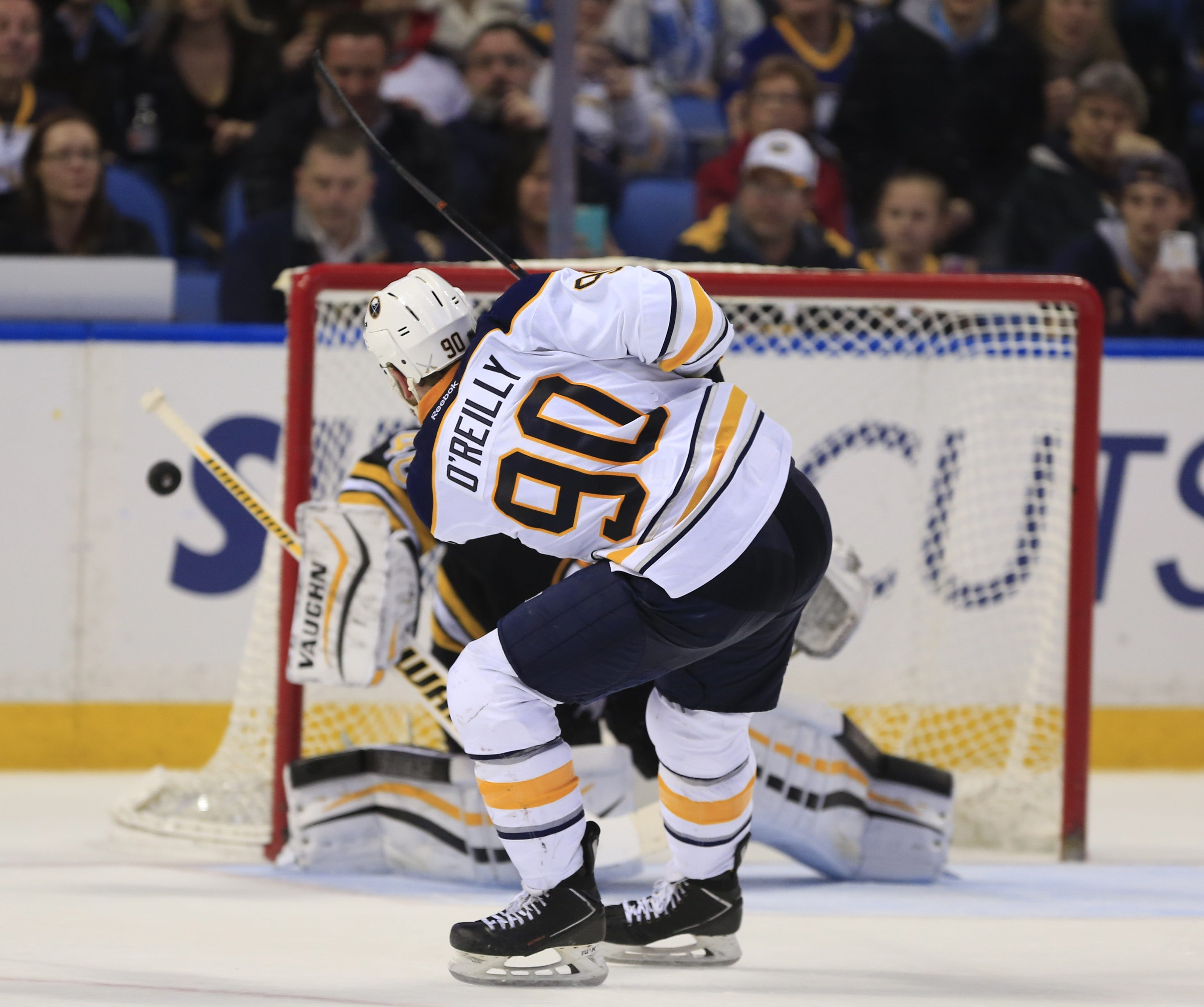 A prolonged slump remains a source of frustration for Ryan O'Reilly, who hasn't found the net in almost a month.  (Harry Scull Jr./Buffalo News)