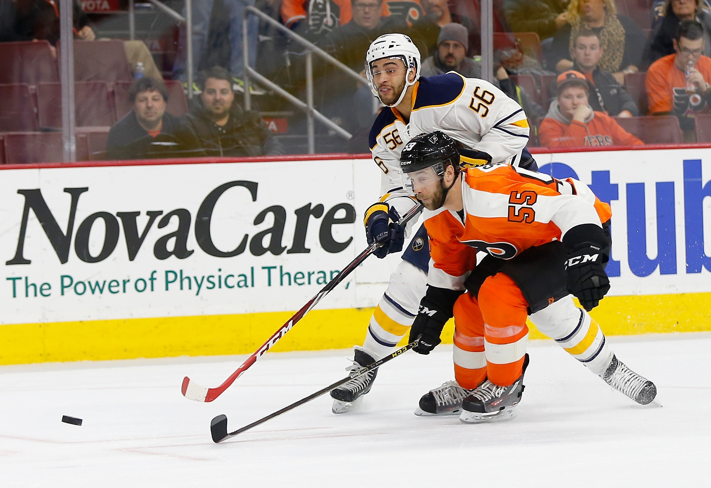 Williamsville native Justin Bailey played his first game as a Sabre on Thursday against Nick Schultz and the Philadelphia Flyers.