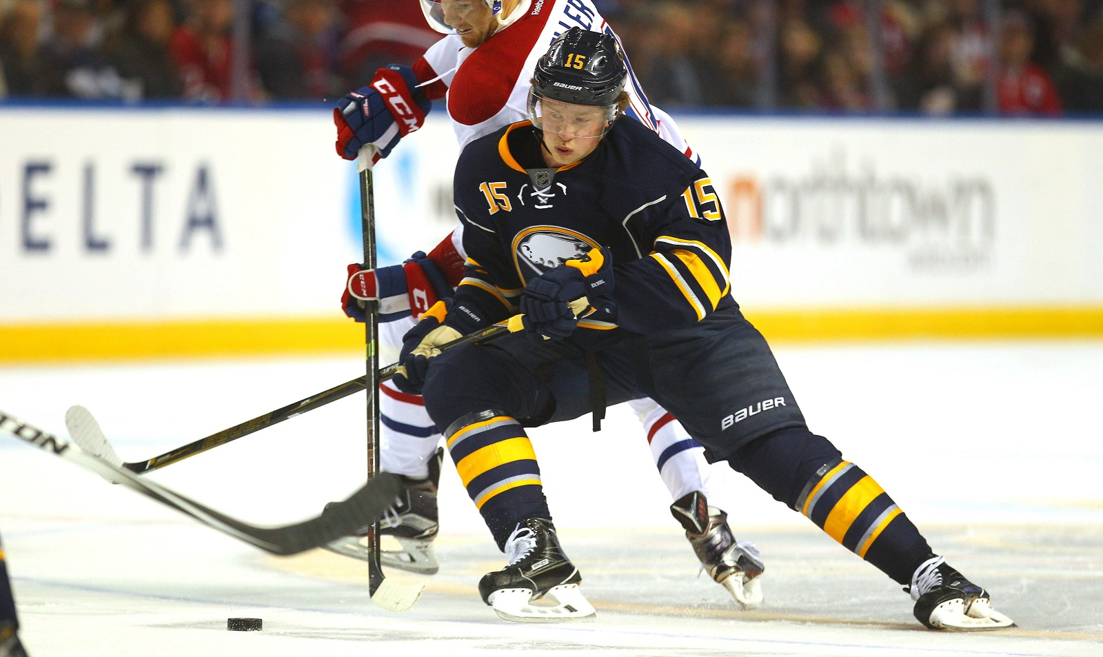 The Sabres' addition of Jack Eichel in the 2015 NHL Draft has certainly helped the team's TV rating on MSG. (Mark Mulvillle/Buffalo News file photo)