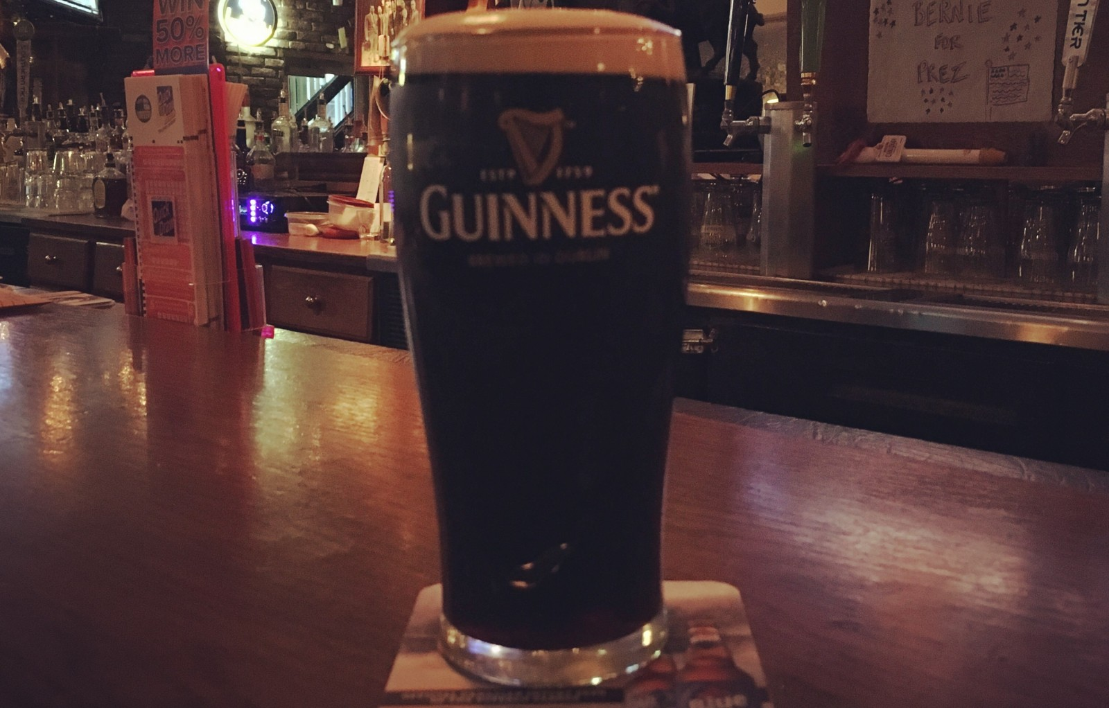 A Guinness Draught at the Irish Times. (Michael Farrell/Special to The News)