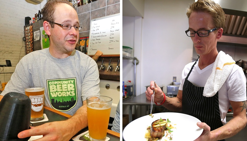 Local brewer Rudy Watkins, left, and chef Bruce Wieszala have been chosen to lead Thin Man Brewery. (Buffalo News file photos)