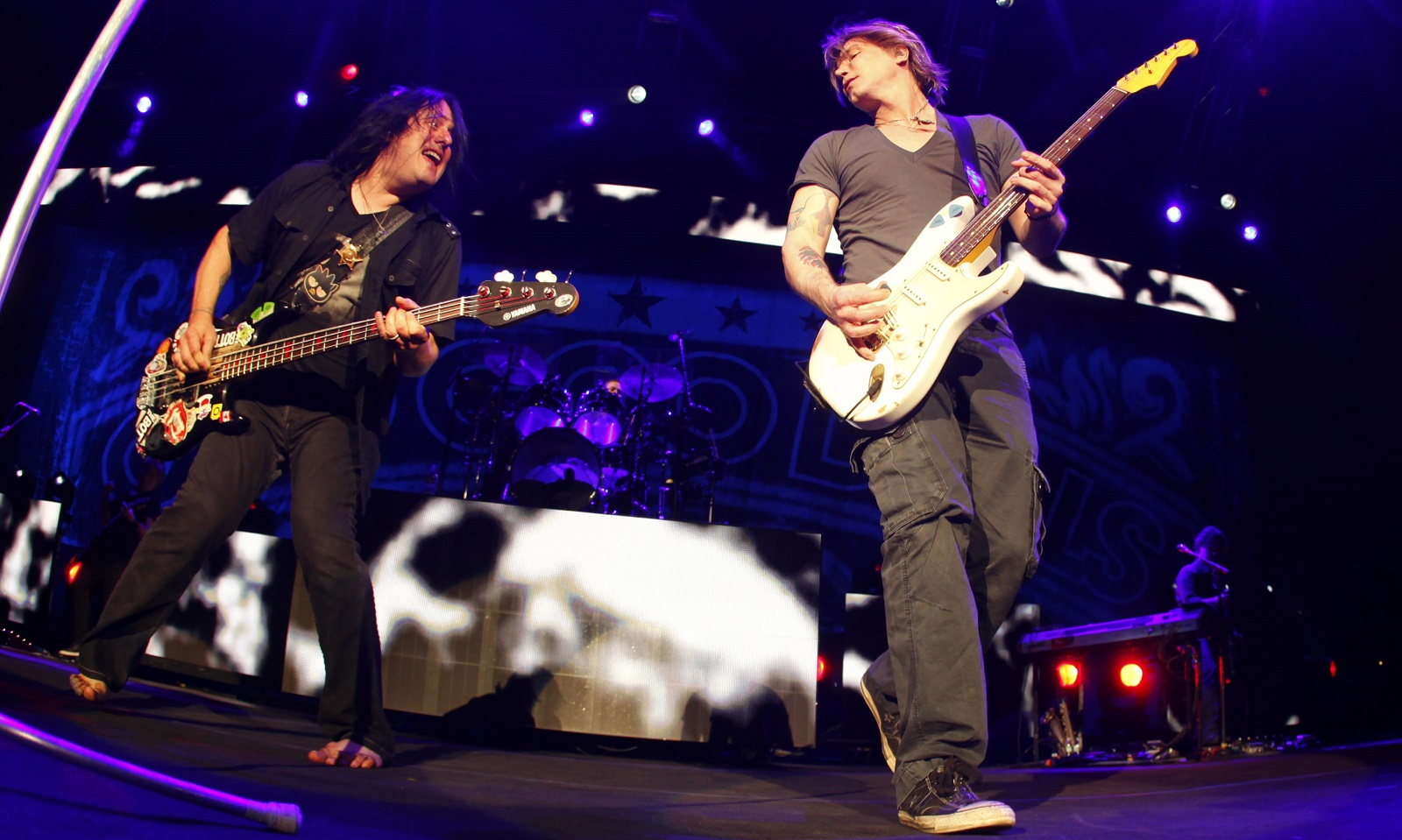 Robby Takac, left, and Johnny Rzeznik return to Darien Lake this summer for a Goo Goo Dolls homecoming show. (Harry Scull Jr./Buffalo News file photo)