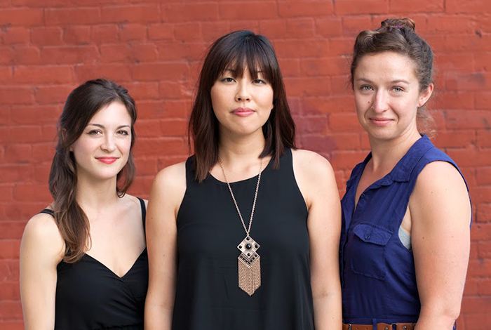 Sharon Mok (center) and Tiny Rhymes play the 9th Ward on March 3.