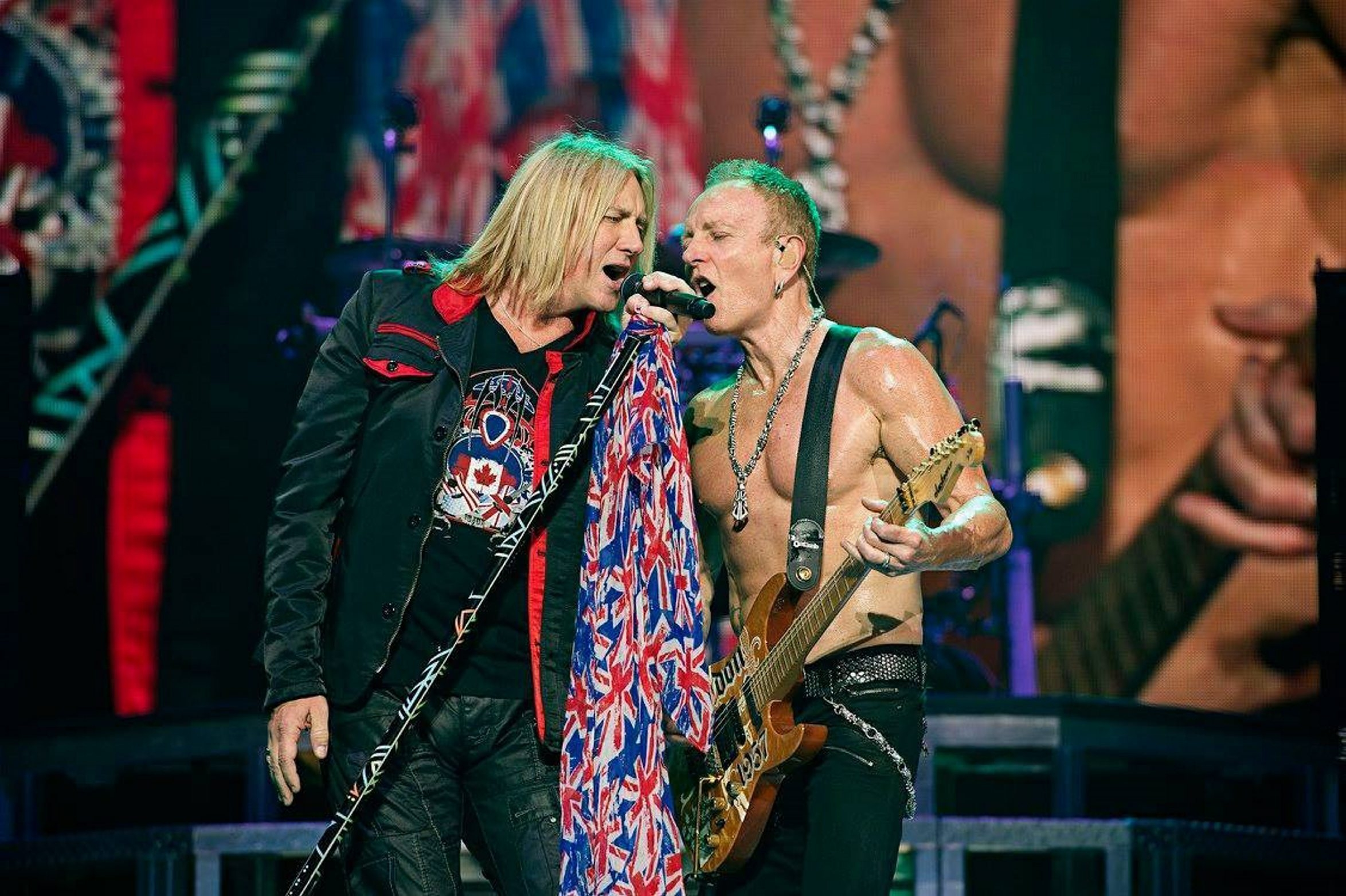 """Joe Elliott, left, and Phil Collen - who, according to Grammy.com, is """"famous for playing shirtless during concerts"""" - are part of the tepid area summer concert season announced so far."""