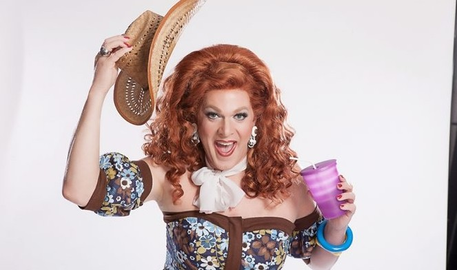 """Kris Andersson is Dixie Longate in """"Never Wear A Tube Top While Riding A Mechanical Bull."""""""