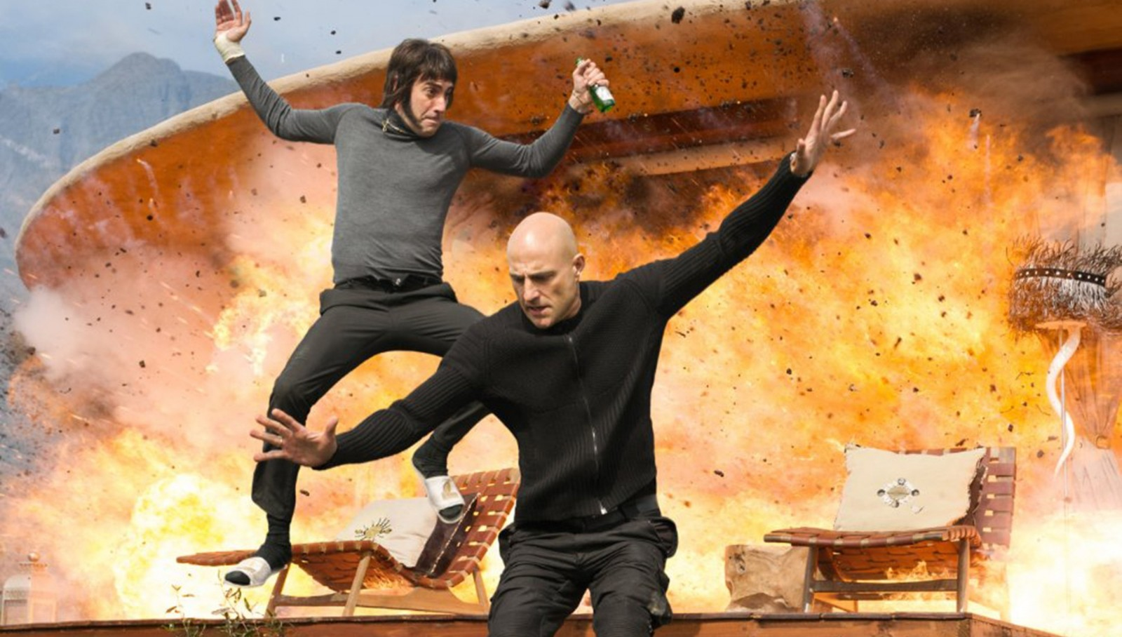 """Sacha Baron Cohen and Mark Strong in """"The Brothers Grimsby."""" (Columbia Pictures)"""