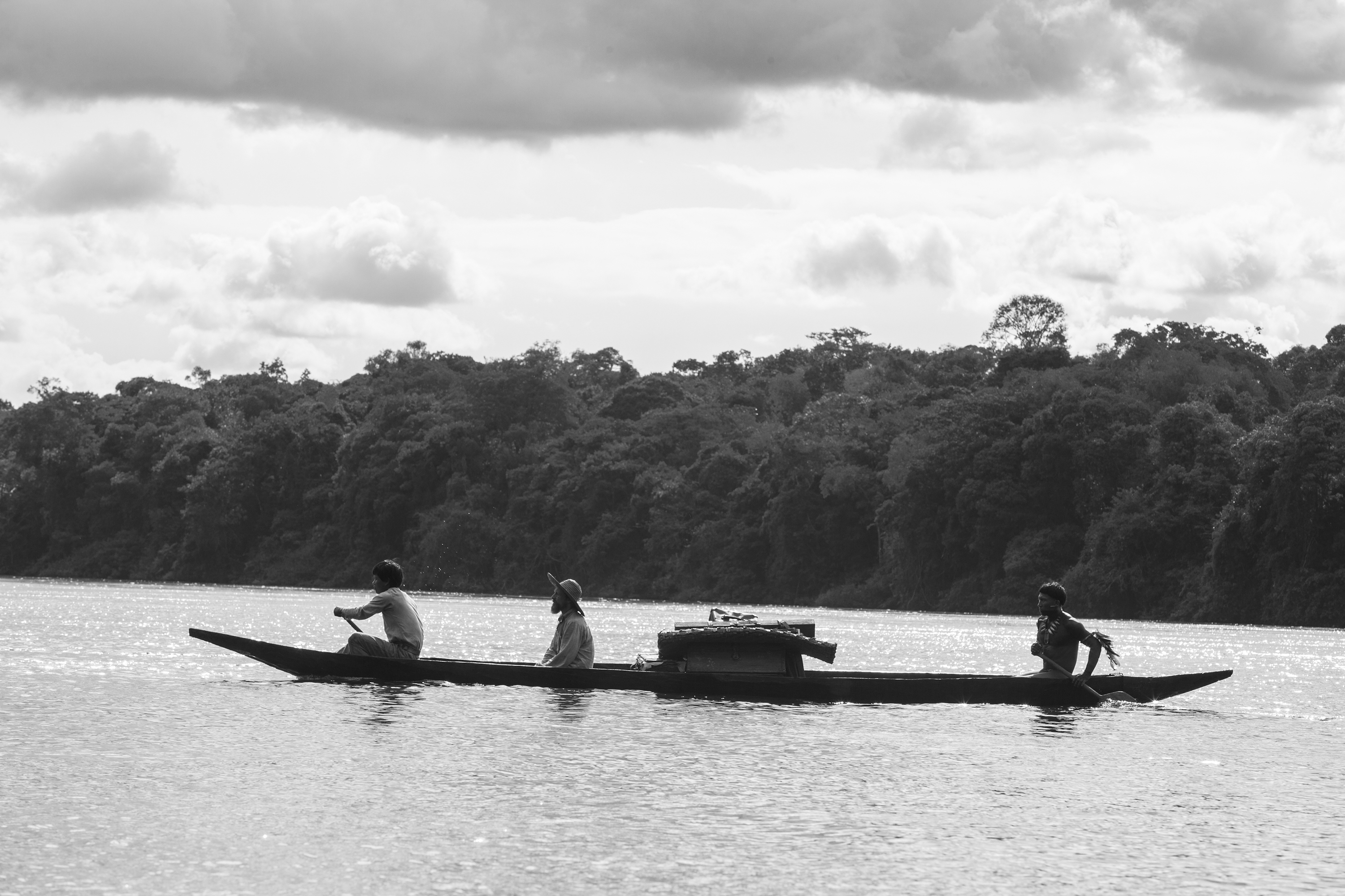 """The Oscar-nominated """"Embrace of the Serpent"""" was shot in black and white in the Colombian rain forest."""