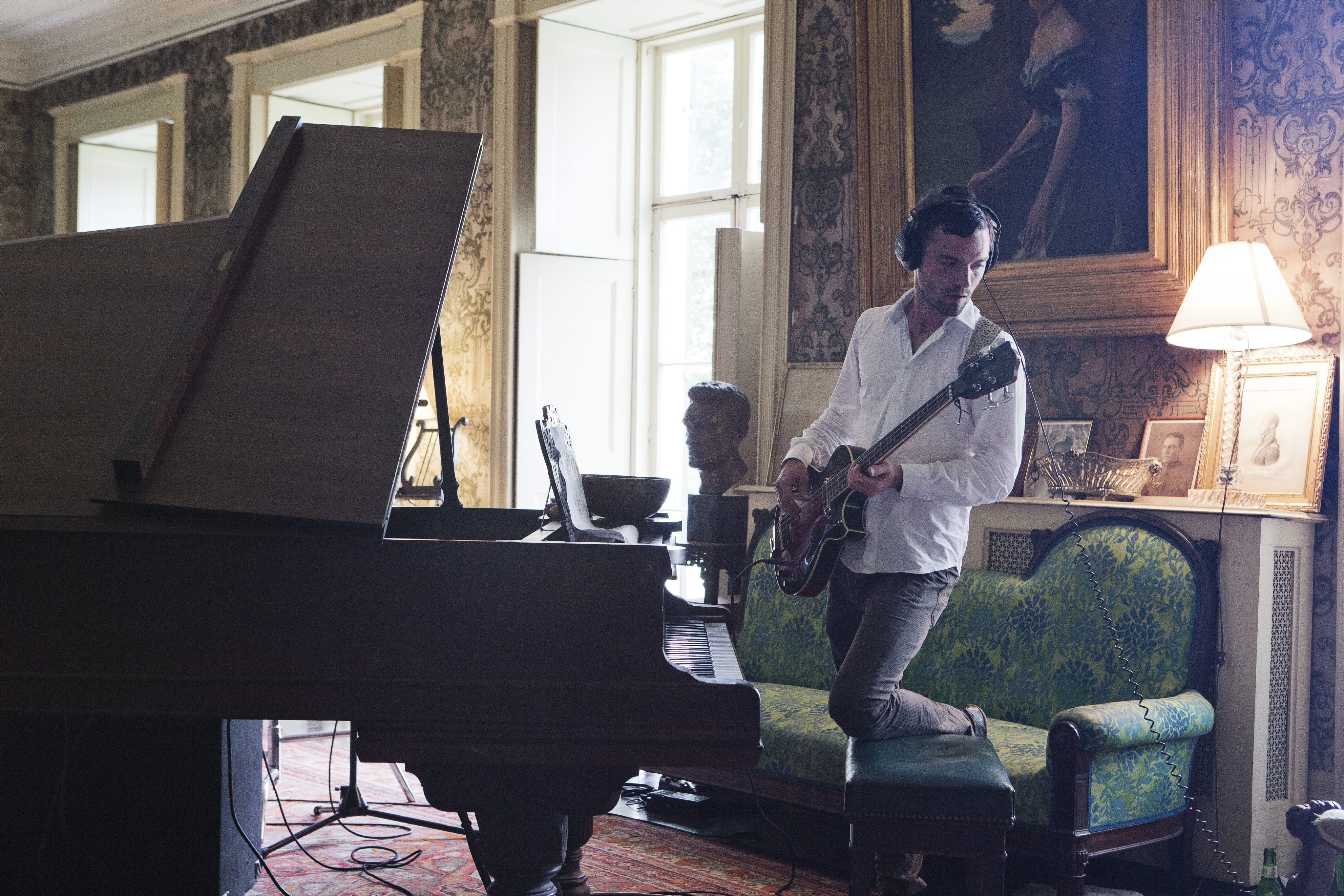 """A scene from Ragnar Kjartansson's nine-channel video installation """"The Visitors,"""" on view through May 15 in the University at Buffalo Art Gallery."""
