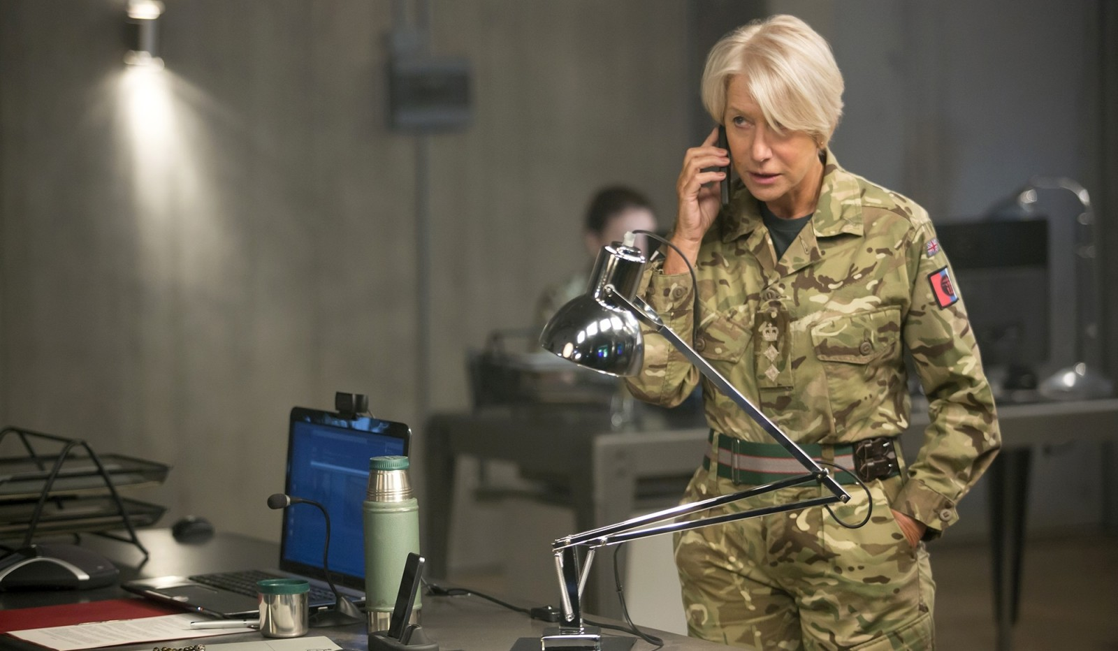 "Helen Mirren stars as Col. Katherine Powell in ""Eye in the Sky."""